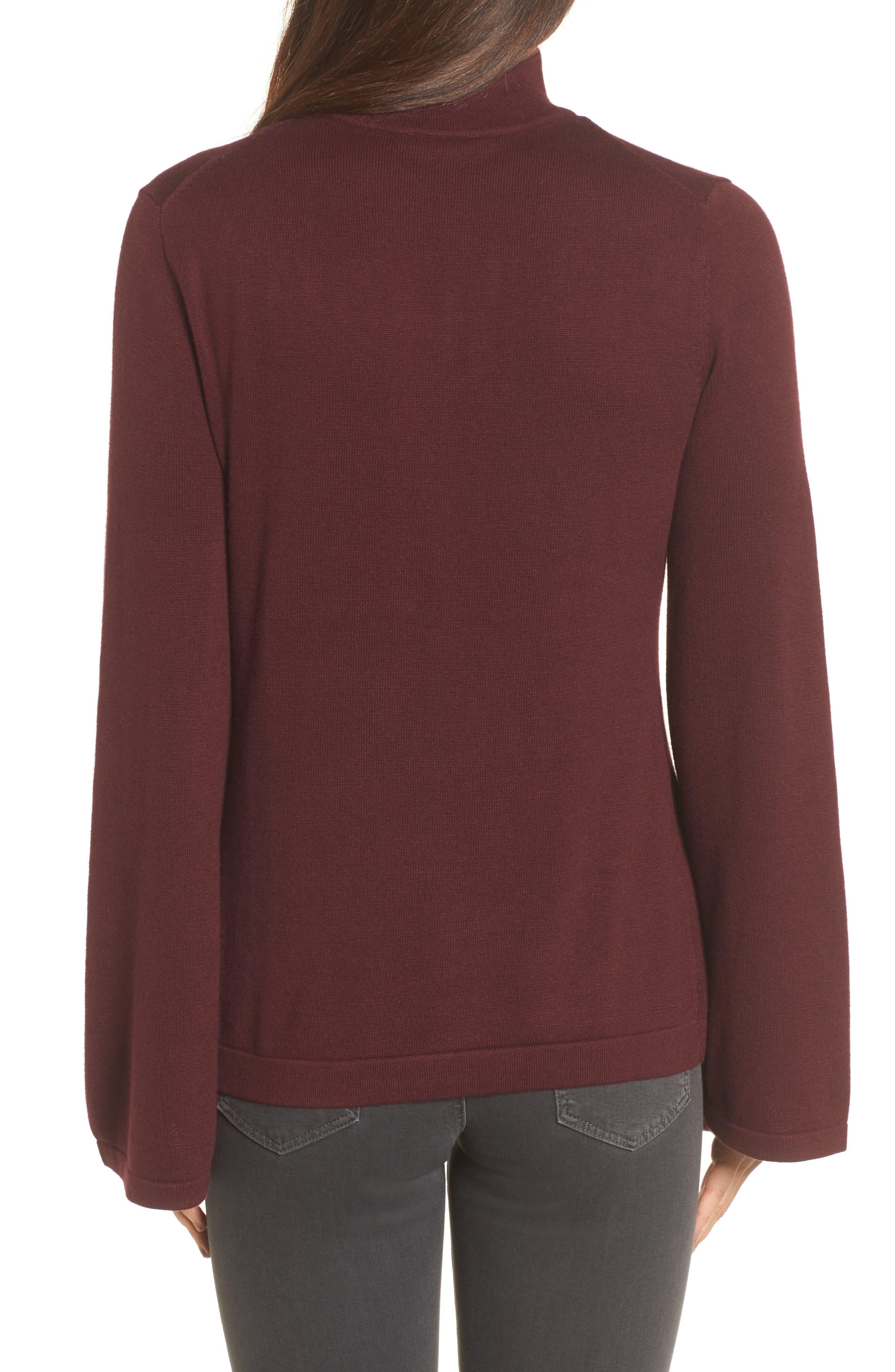 Bell Sleeve Choker Neck Sweater,                             Alternate thumbnail 9, color,
