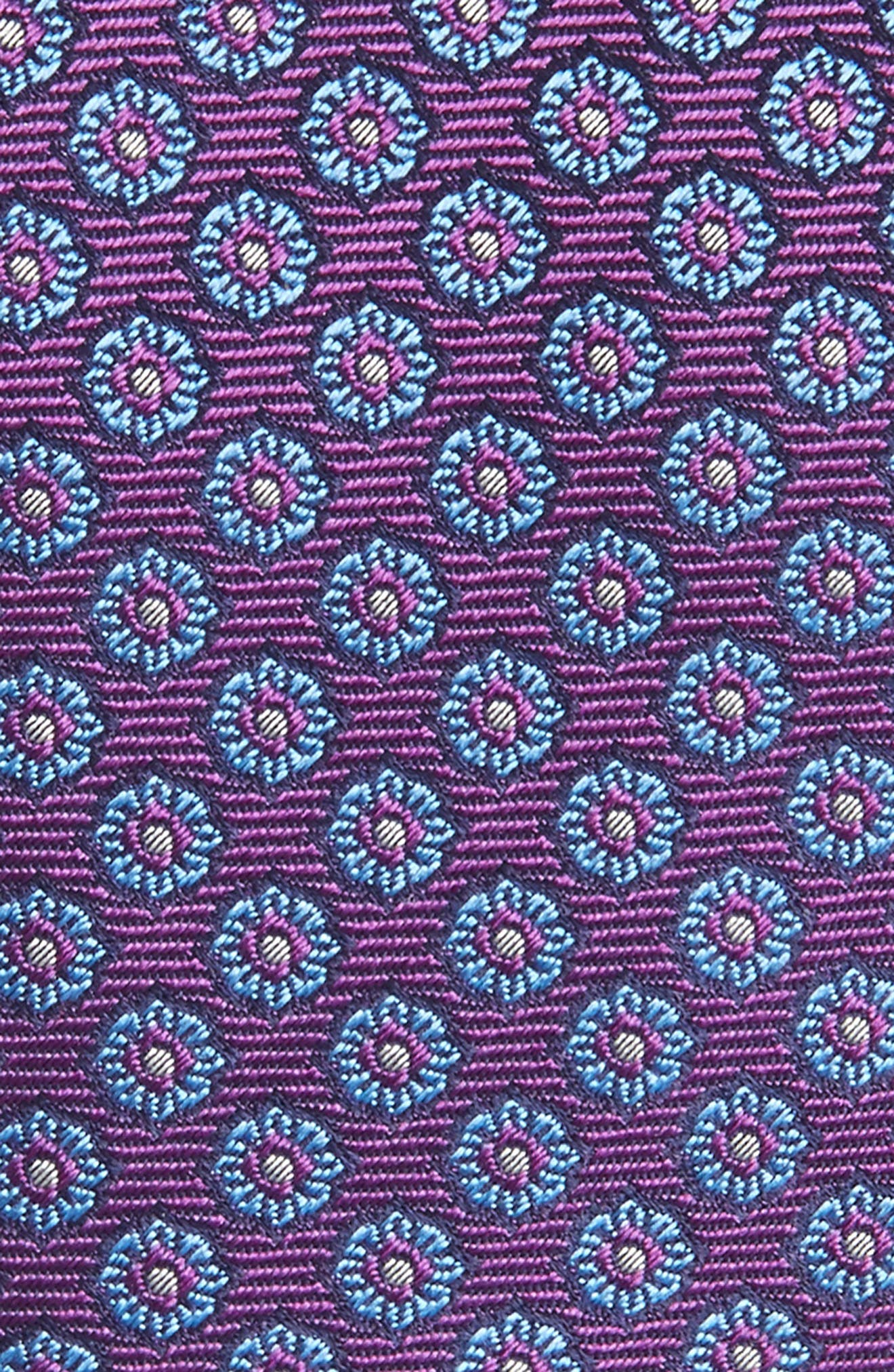 Floral Medallion Silk Tie,                             Alternate thumbnail 5, color,