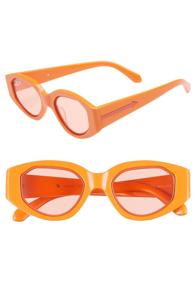 a29ae5ed5ba Karen Walker Castaway 48Mm Round Sunglasses - Tangerine  Coral ...
