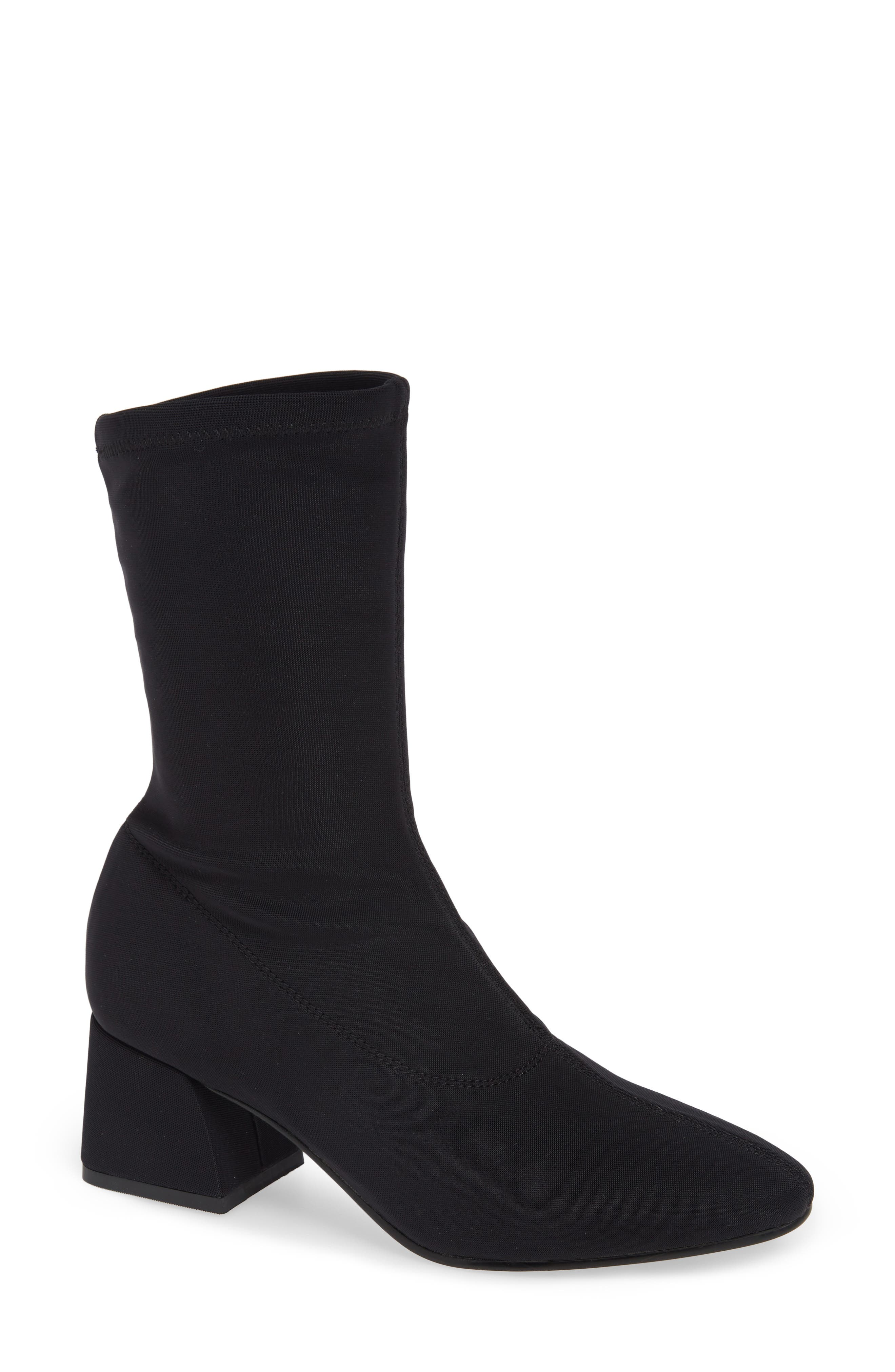 Shoemakers Alice Stretch Bootie in Black Fabric