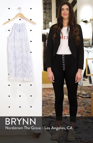 Pinstripe Cotton Lace Shift Dress, sales video thumbnail