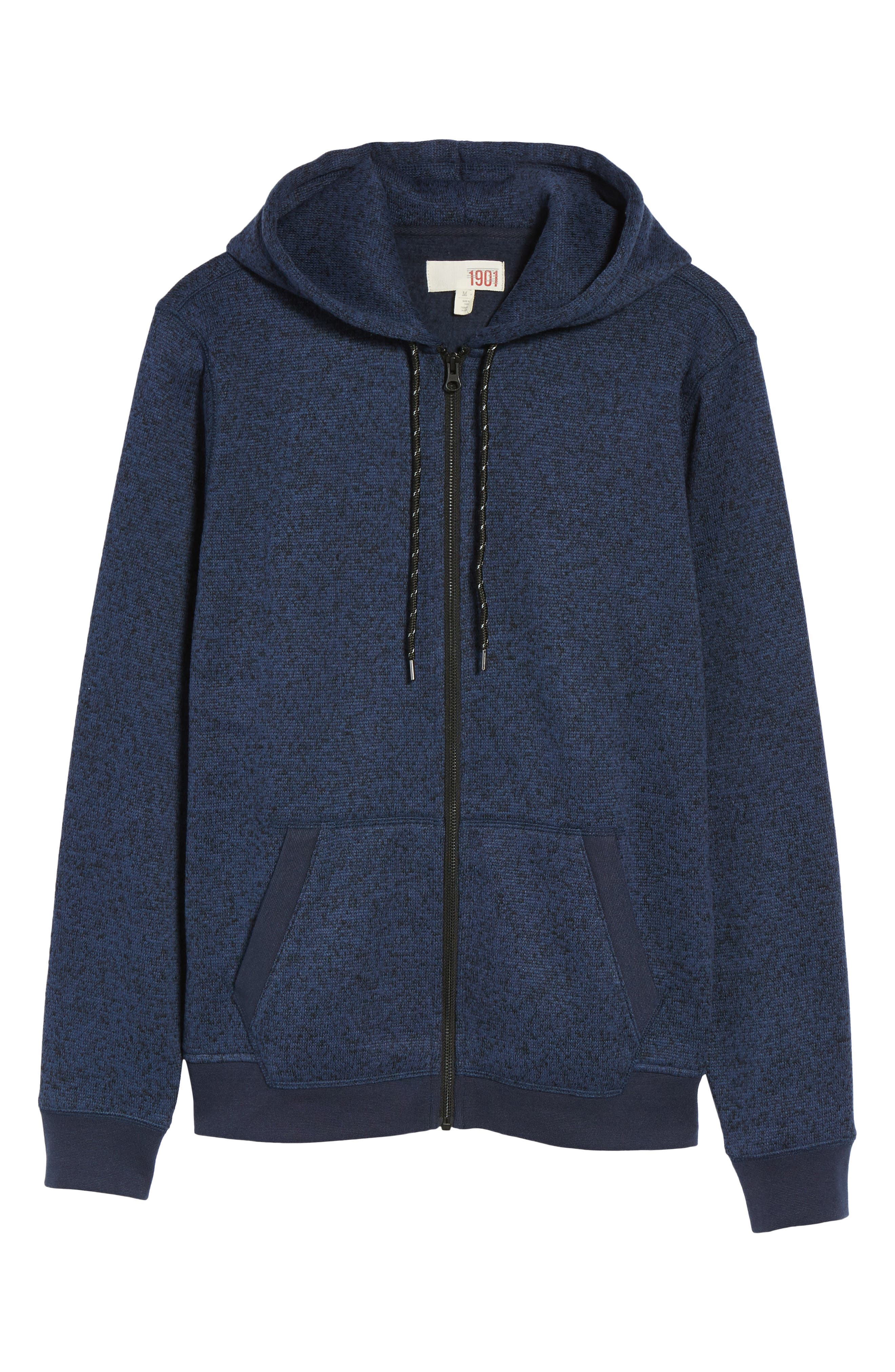 The Rail Zip Front Sweater Hoodie,                             Alternate thumbnail 6, color,                             401