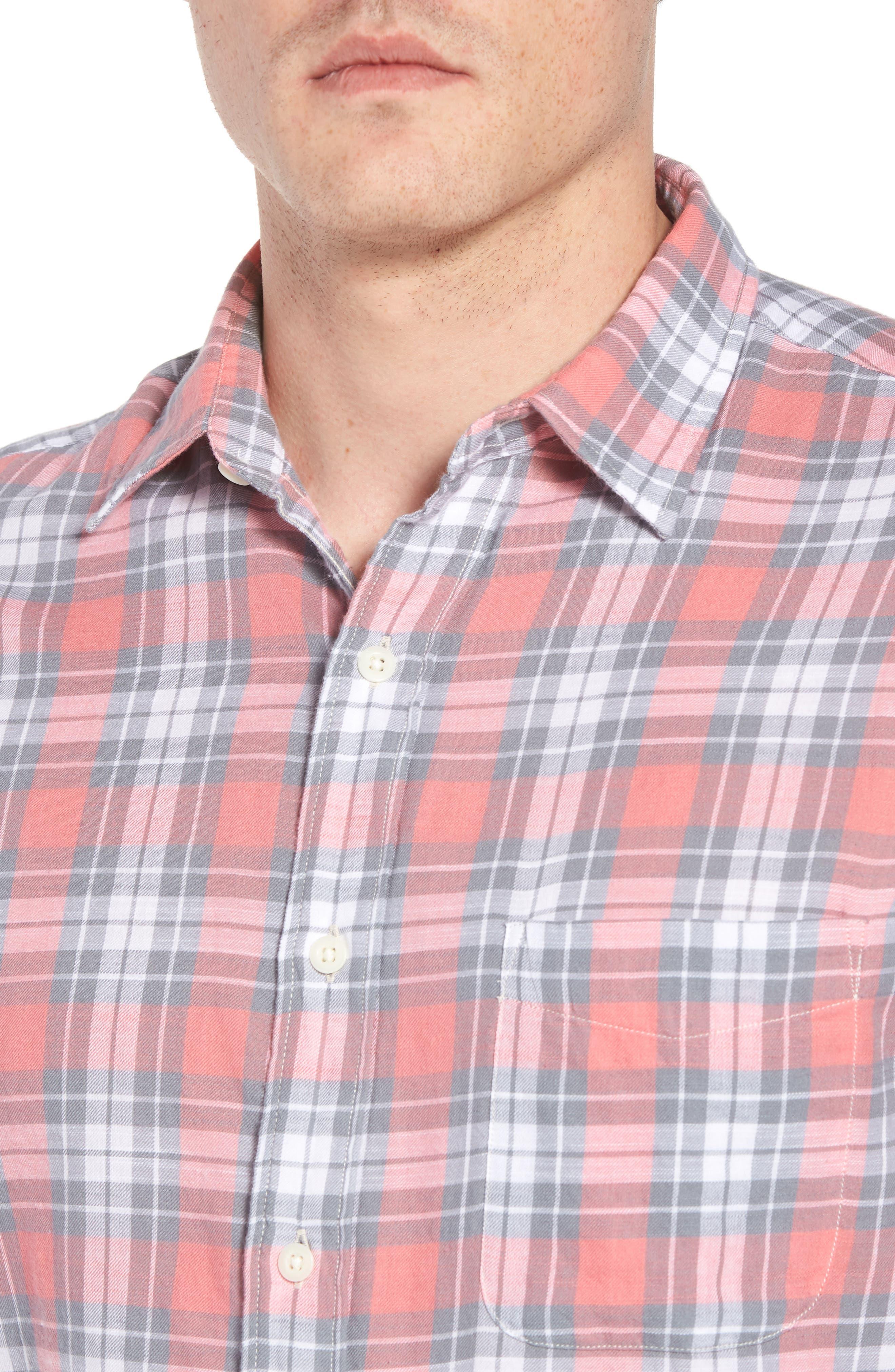 Ventura Plaid Sport Shirt,                             Alternate thumbnail 4, color,                             600