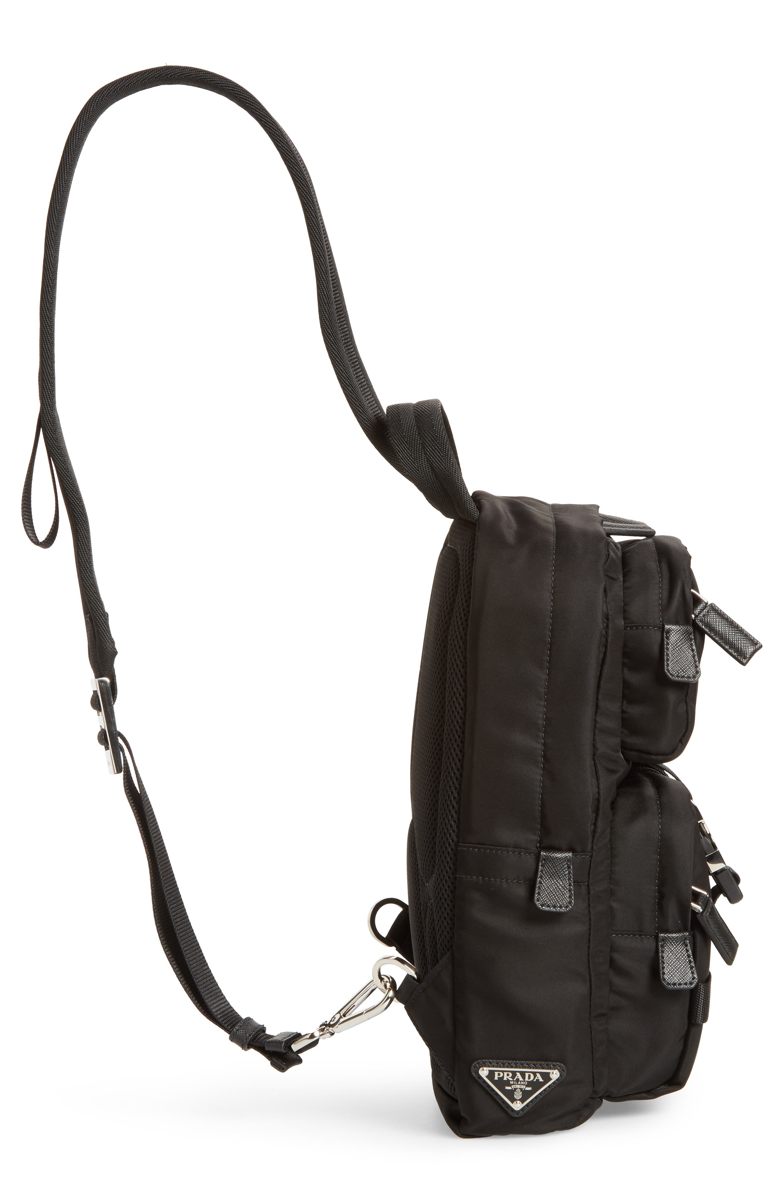 PRADA,                             Tessuto Small Sling Bag,                             Alternate thumbnail 5, color,                             001