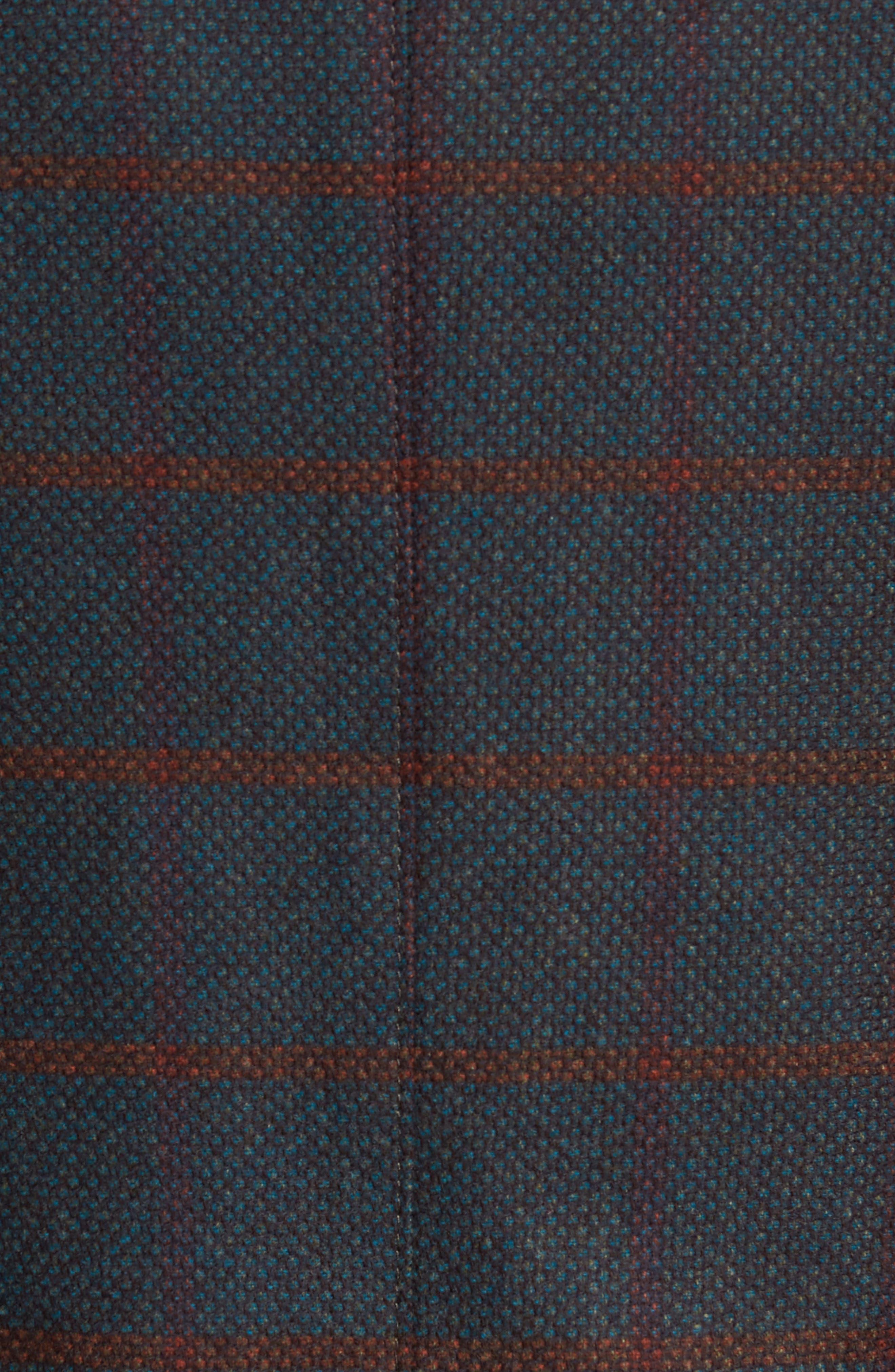 Classic Fit Windowpane Wool Sport Coat,                             Alternate thumbnail 12, color,