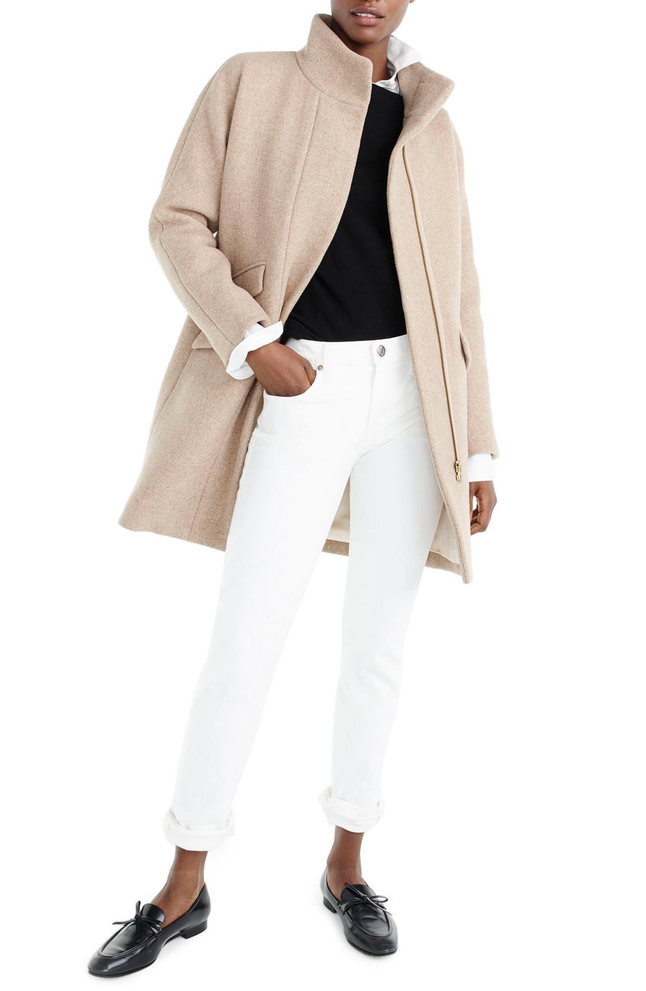 Stadium Cloth Cocoon Coat,                         Main,                         color, 201