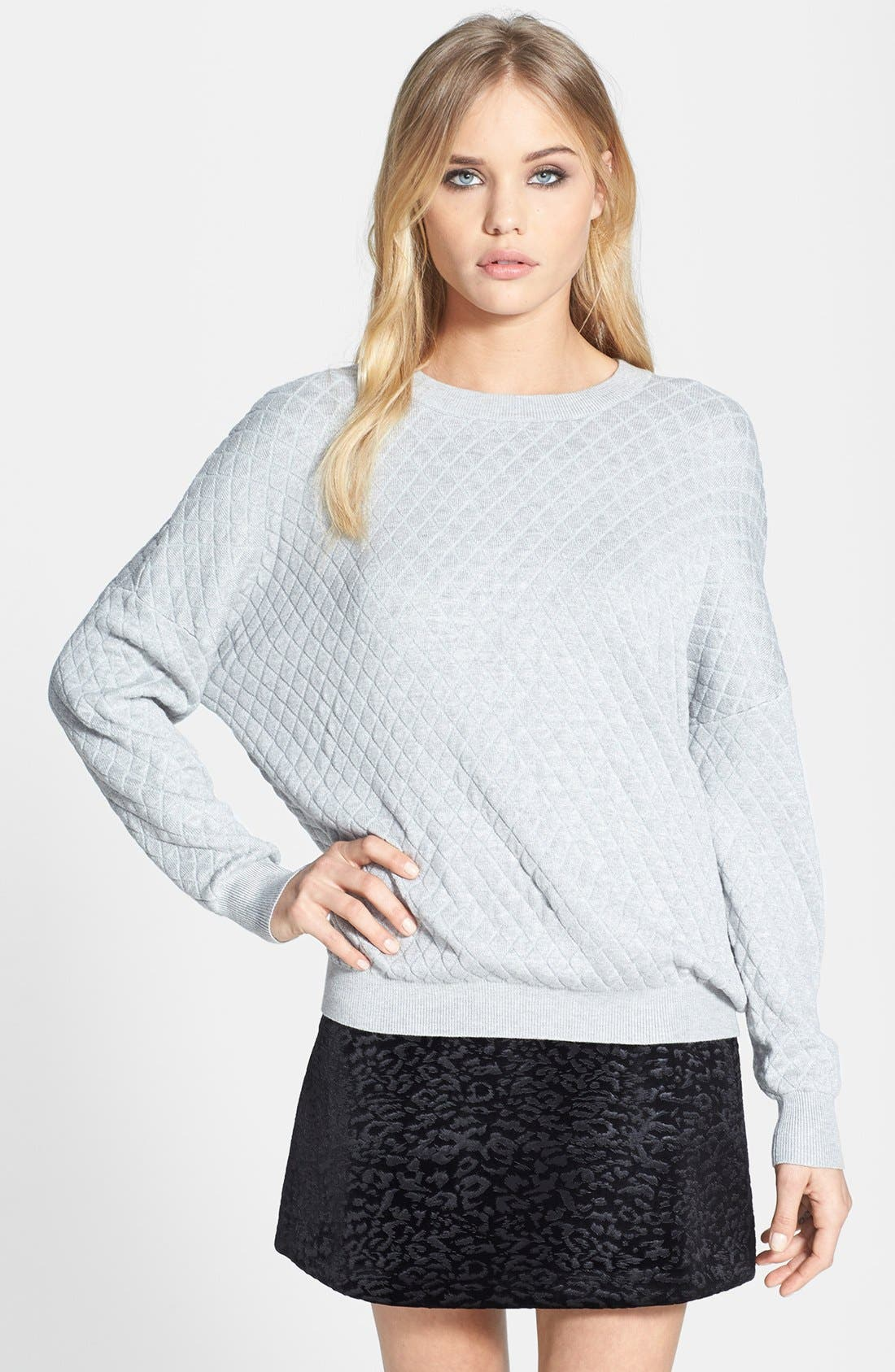 Quilted Sweatshirt,                             Main thumbnail 1, color,                             050