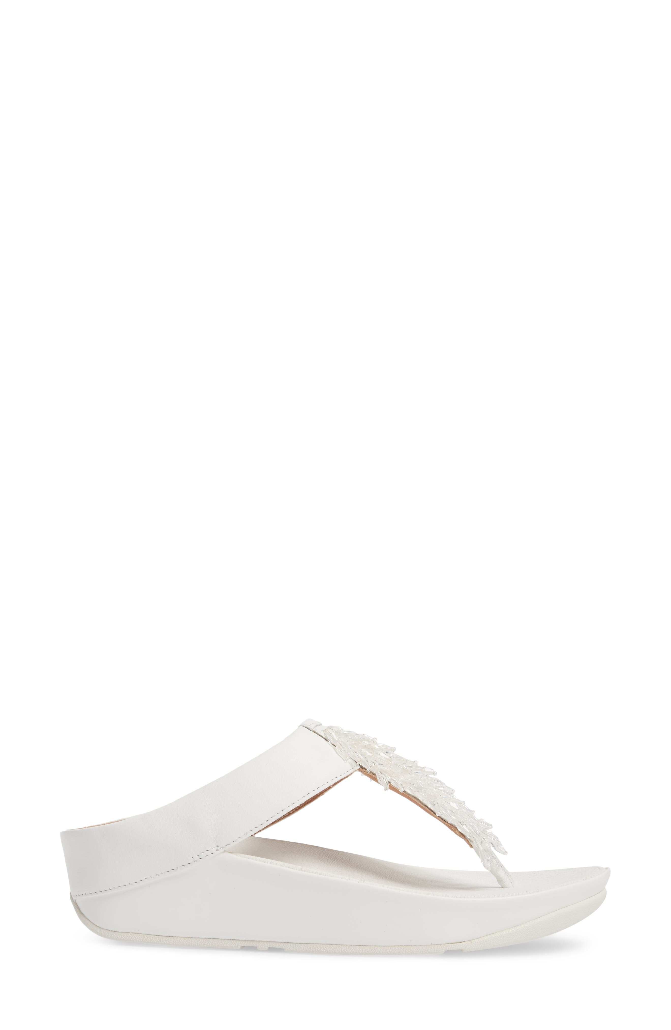 FITFLOP,                             Rumba Sandal,                             Alternate thumbnail 3, color,                             URBAN WHITE LEATHER