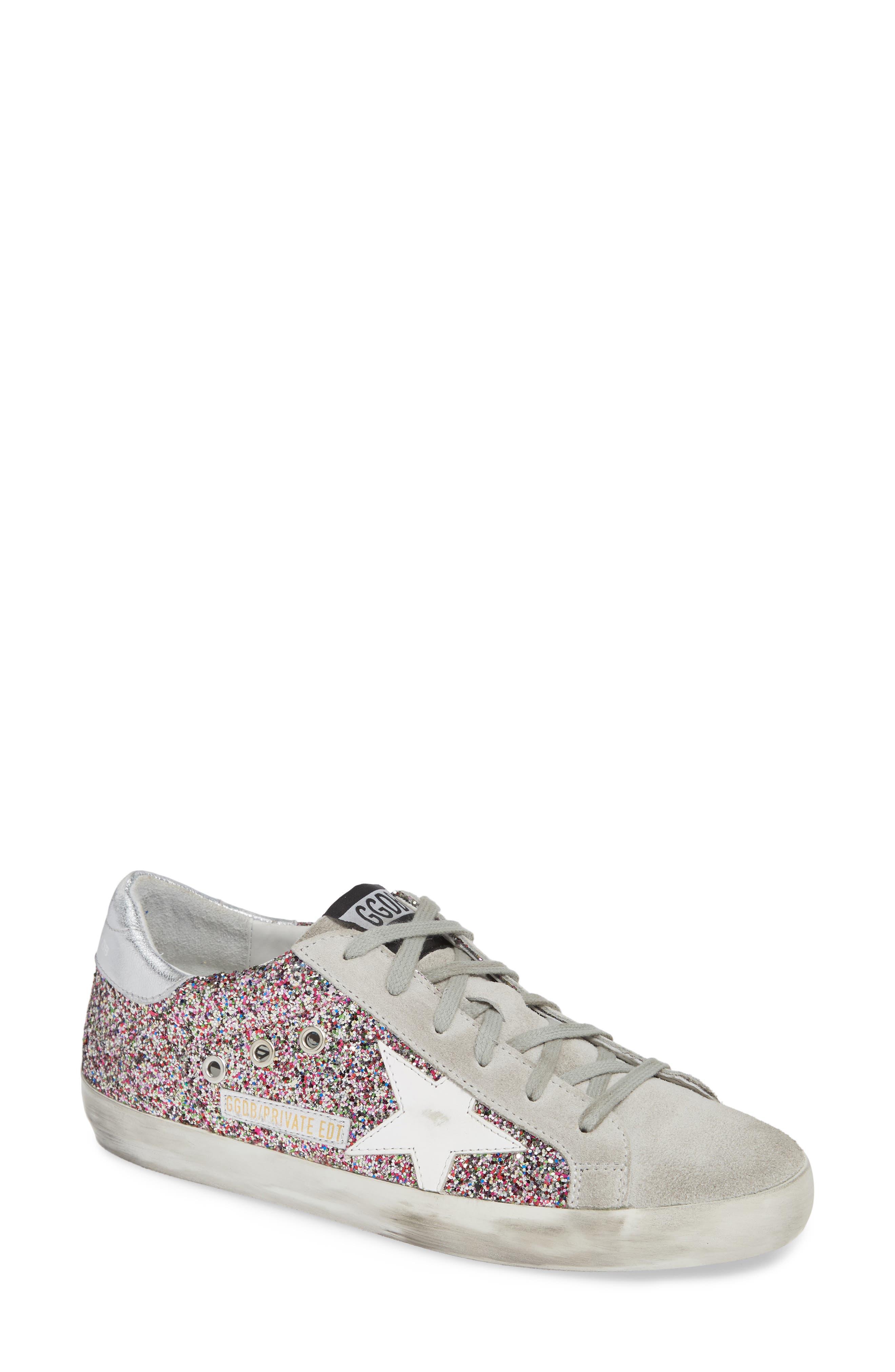Superstar Glitter Sneaker,                             Main thumbnail 1, color,                             PINK MULTI/ GREY