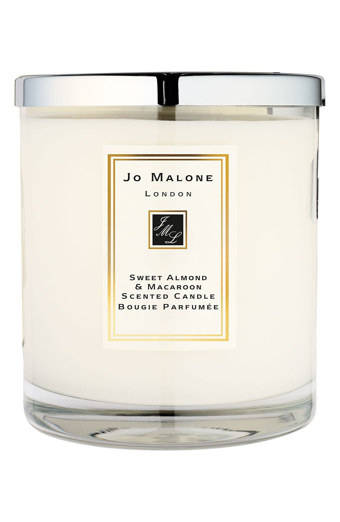 Jo Malone<sup>™</sup> 'Sweet Almond & Macaroon' Deluxe Candle,                             Main thumbnail 1, color,                             000