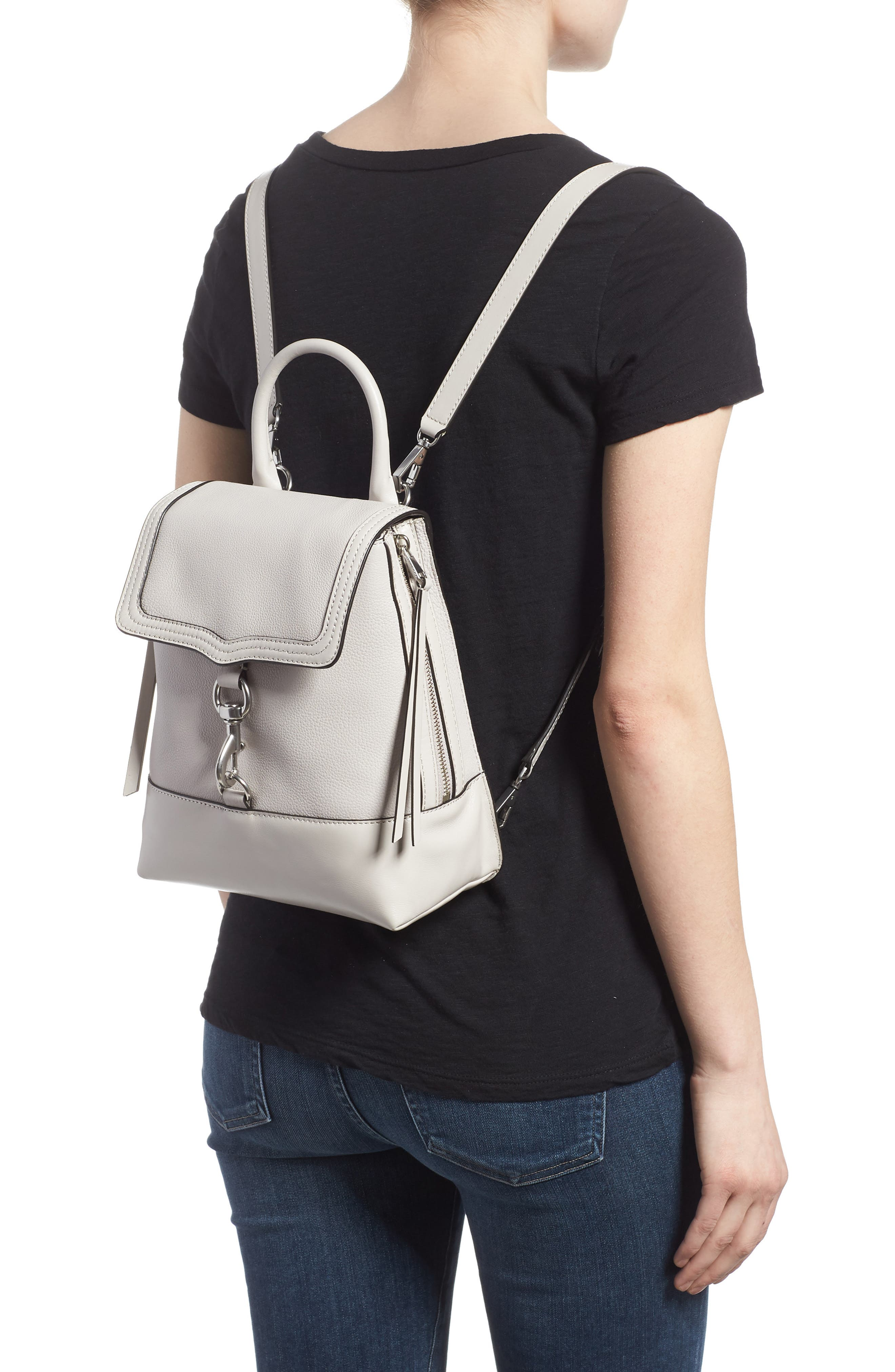 Bree Leather Convertible Backpack,                             Alternate thumbnail 4, color,