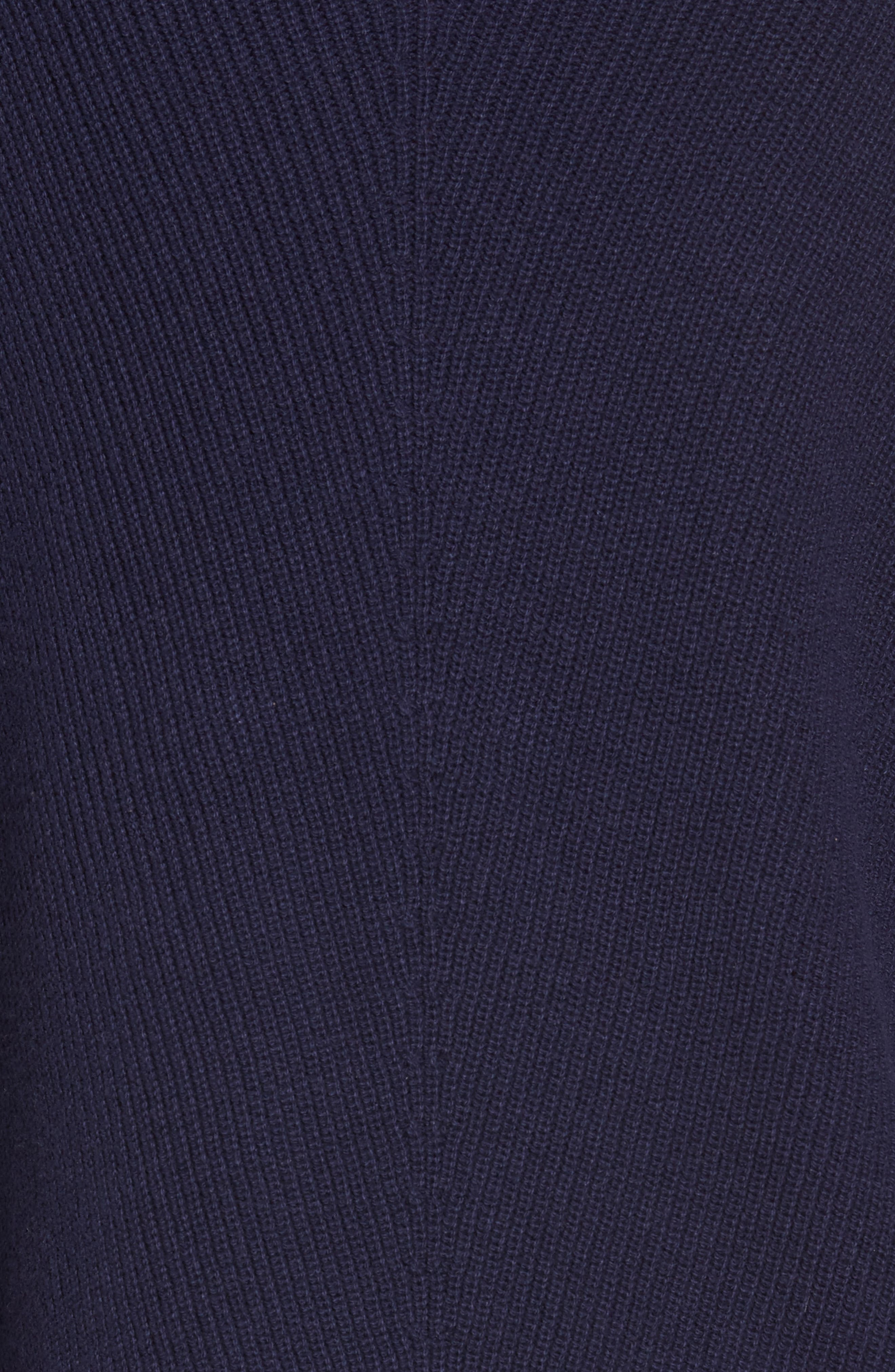 Ribbed Asymmetrical Hem Sweater,                             Alternate thumbnail 5, color,                             429