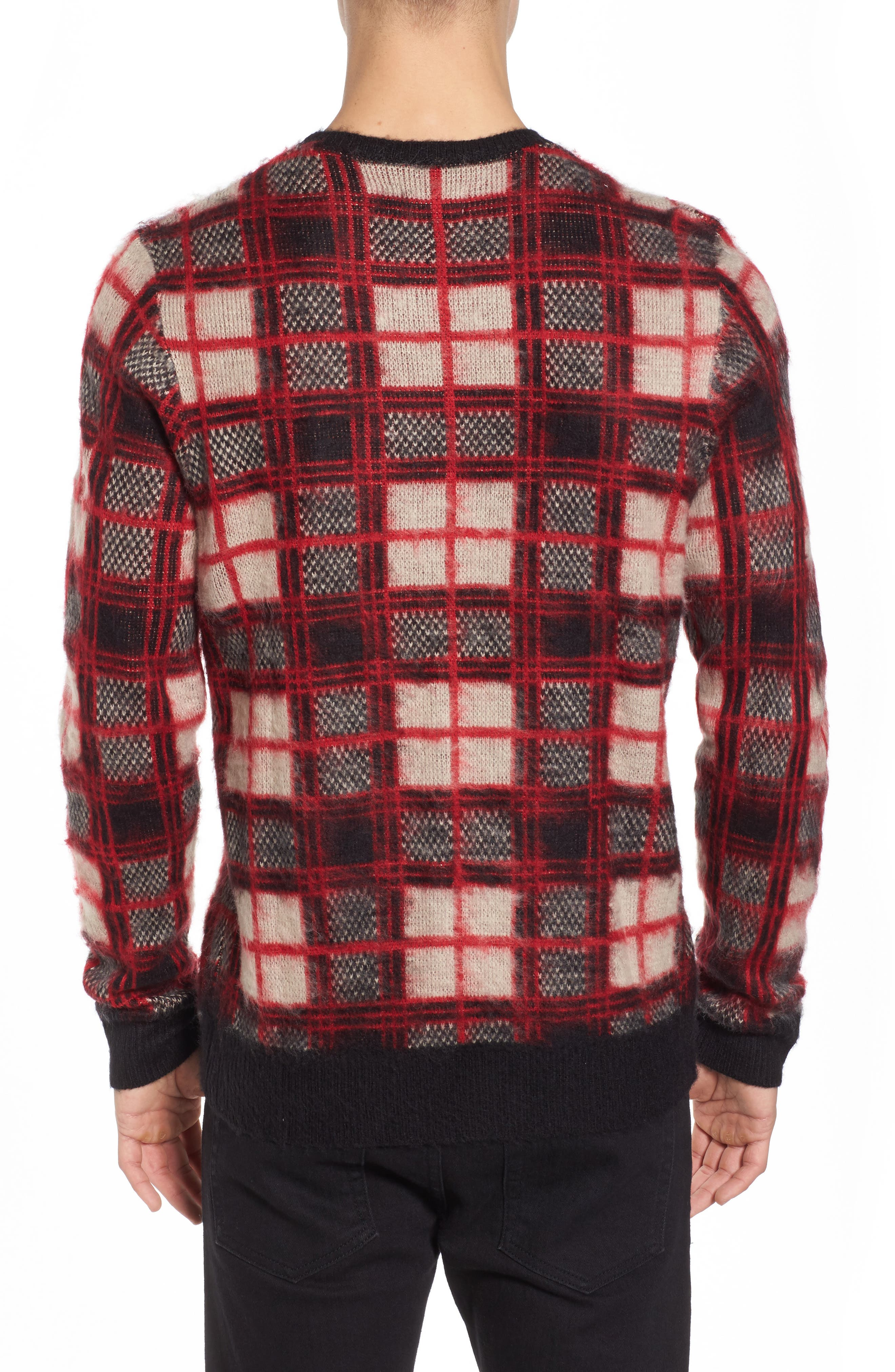 Fuzzy Plaid Sweater,                             Alternate thumbnail 2, color,                             610