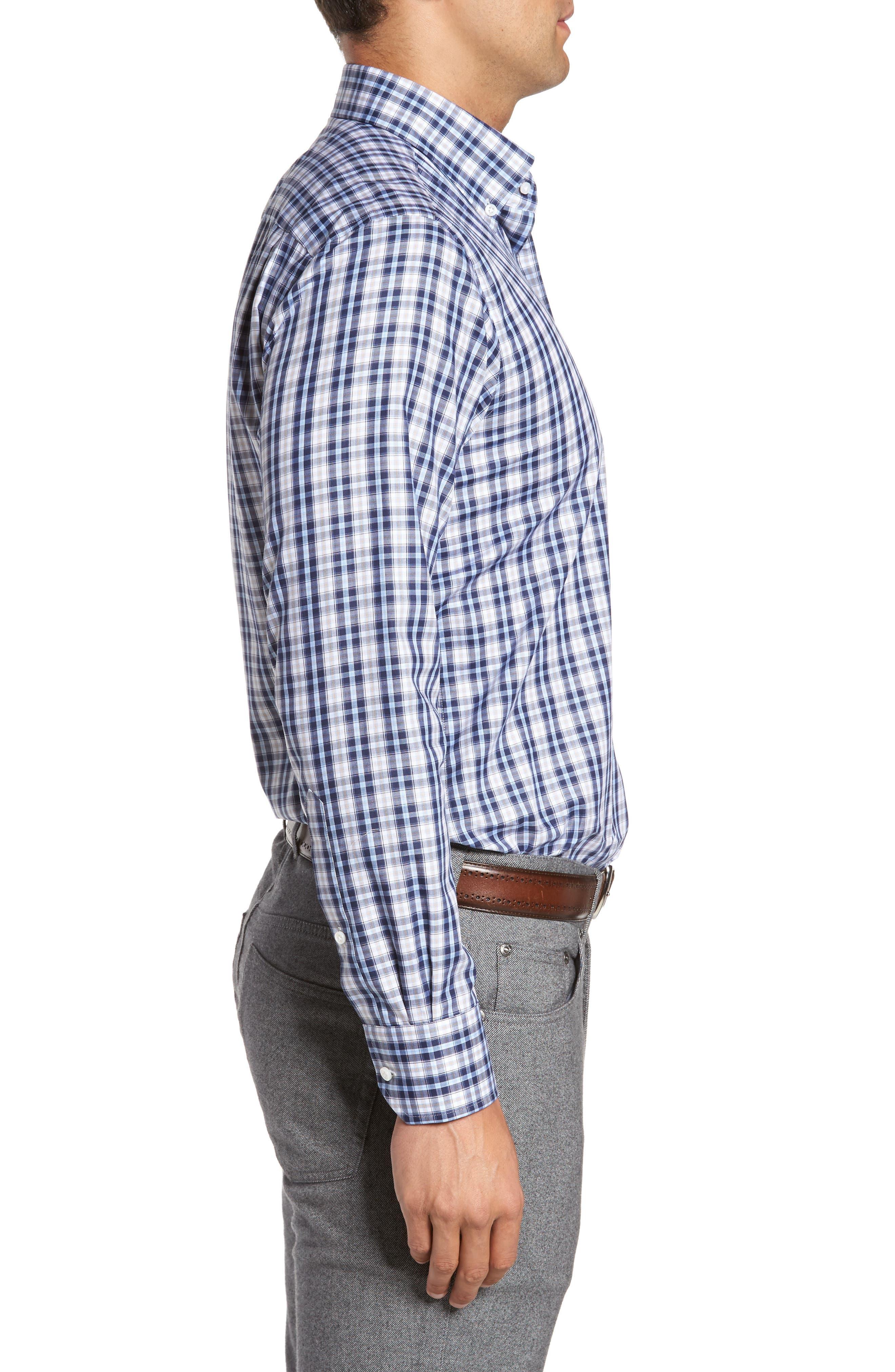 Peyto Regular Fit Plaid Sport Shirt,                             Alternate thumbnail 3, color,