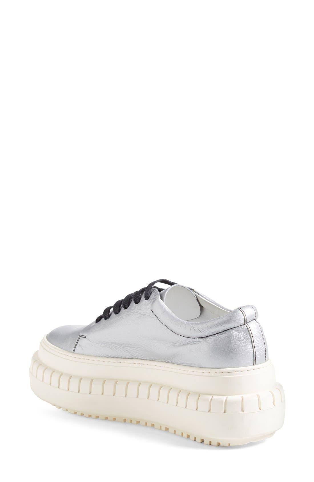 ACNE STUDIOS,                             ACNE Studio 'Saddy' Platform Sneaker,                             Alternate thumbnail 3, color,                             040