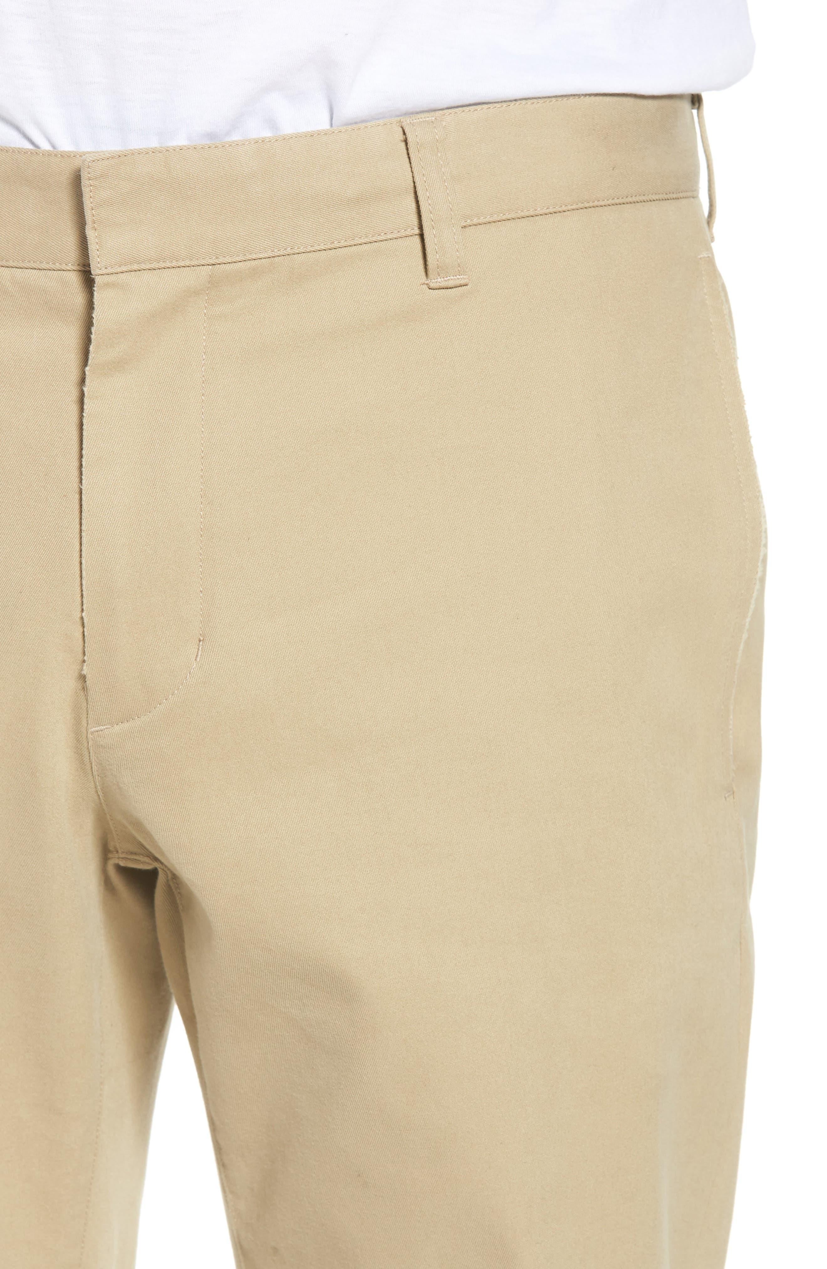 Flat Front Chino Pants,                             Alternate thumbnail 4, color,                             250