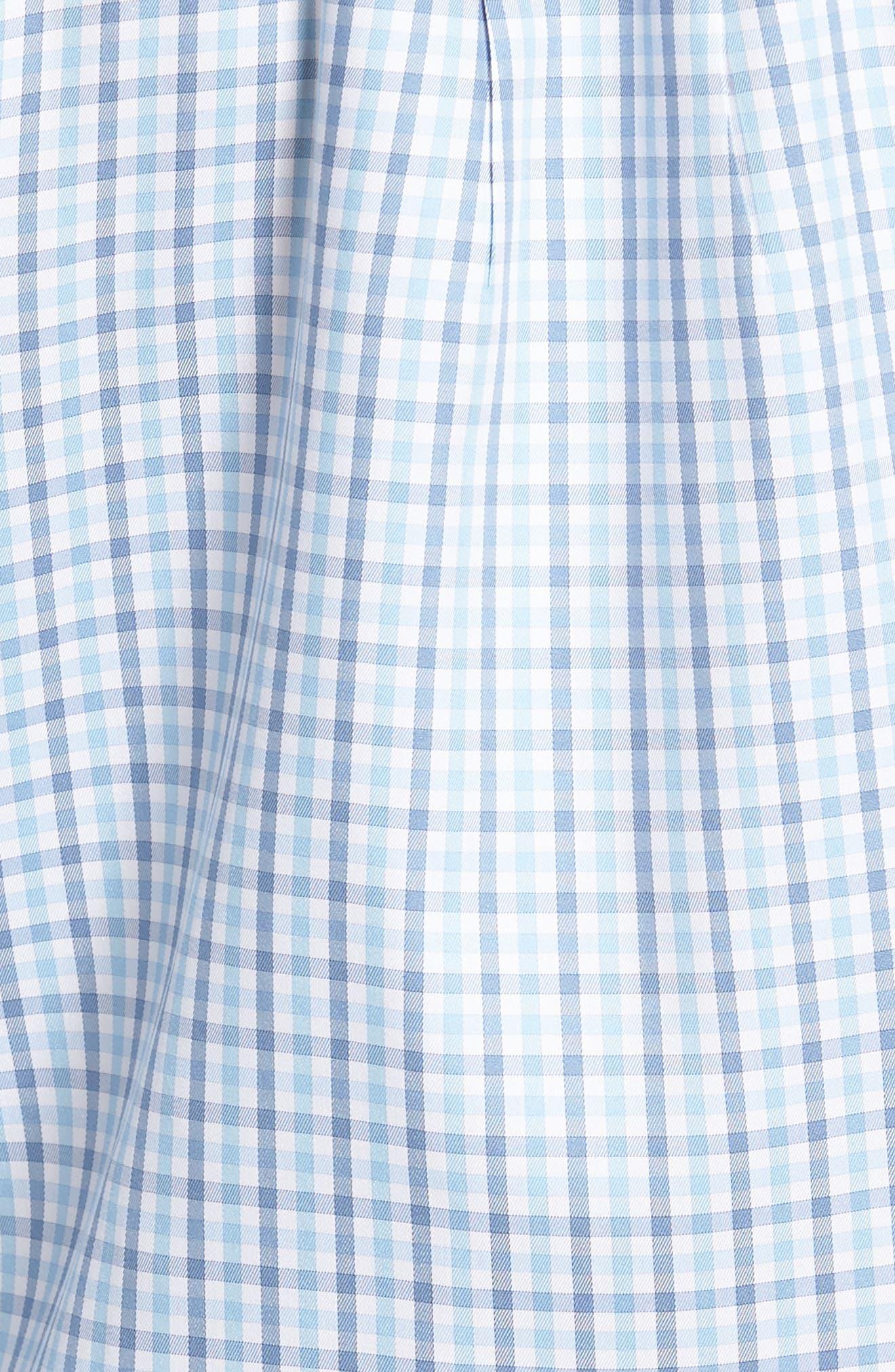 Lake City Regular Fit Tattersall Sport Shirt,                             Alternate thumbnail 5, color,                             COTTAGE BLUE