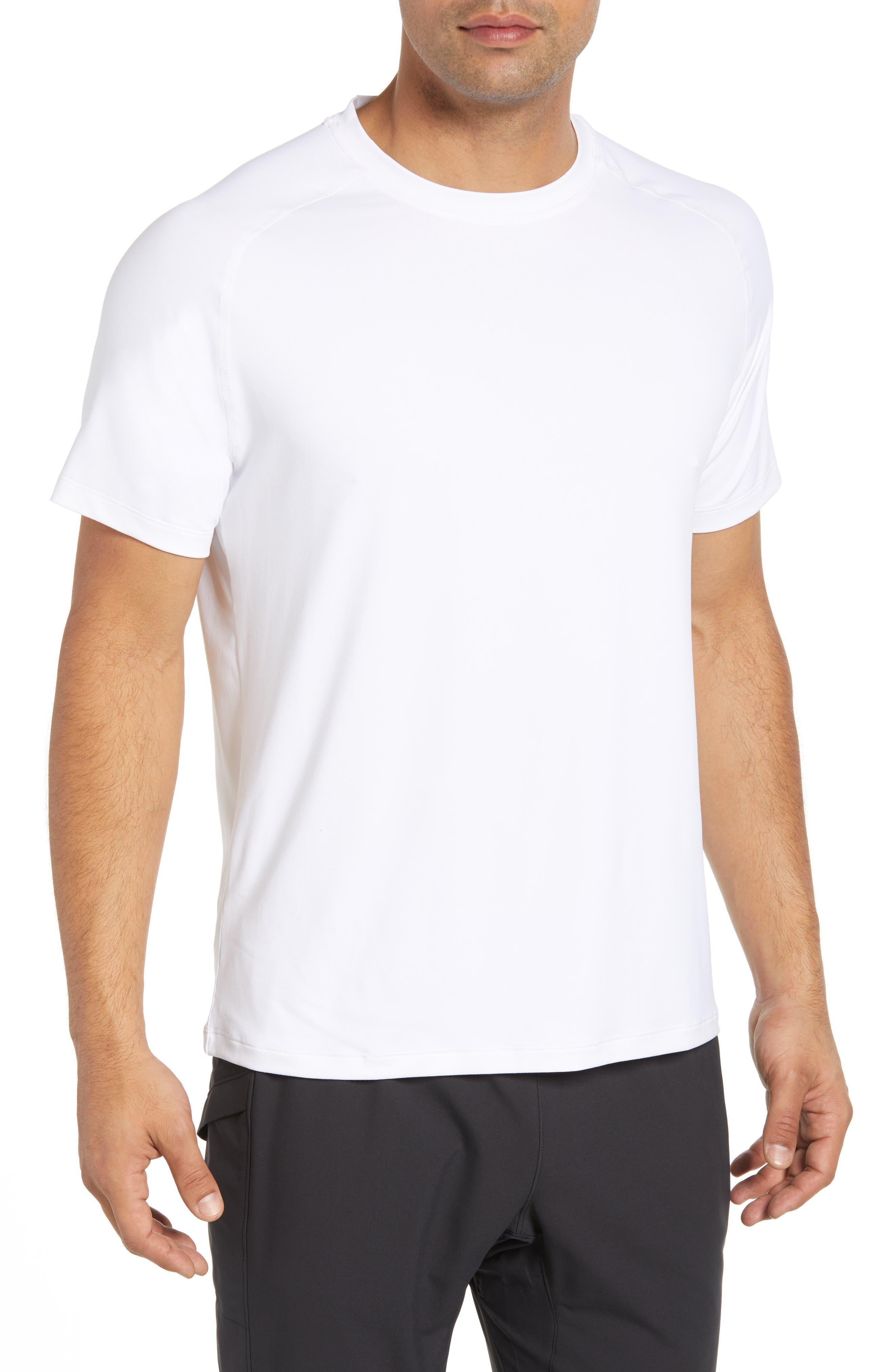 Rio Regular Fit Technical T-Shirt,                             Main thumbnail 1, color,                             WHITE
