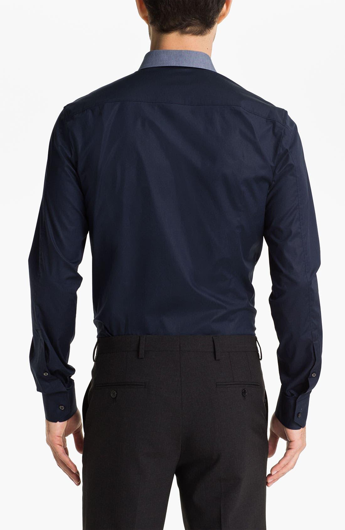 HUGO 'Elisha' Trim Fit Sport Shirt,                             Alternate thumbnail 2, color,                             464