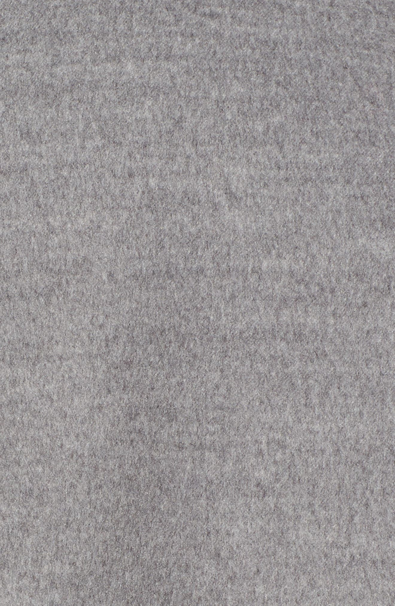 Pompom Trim Coat,                             Alternate thumbnail 6, color,                             020