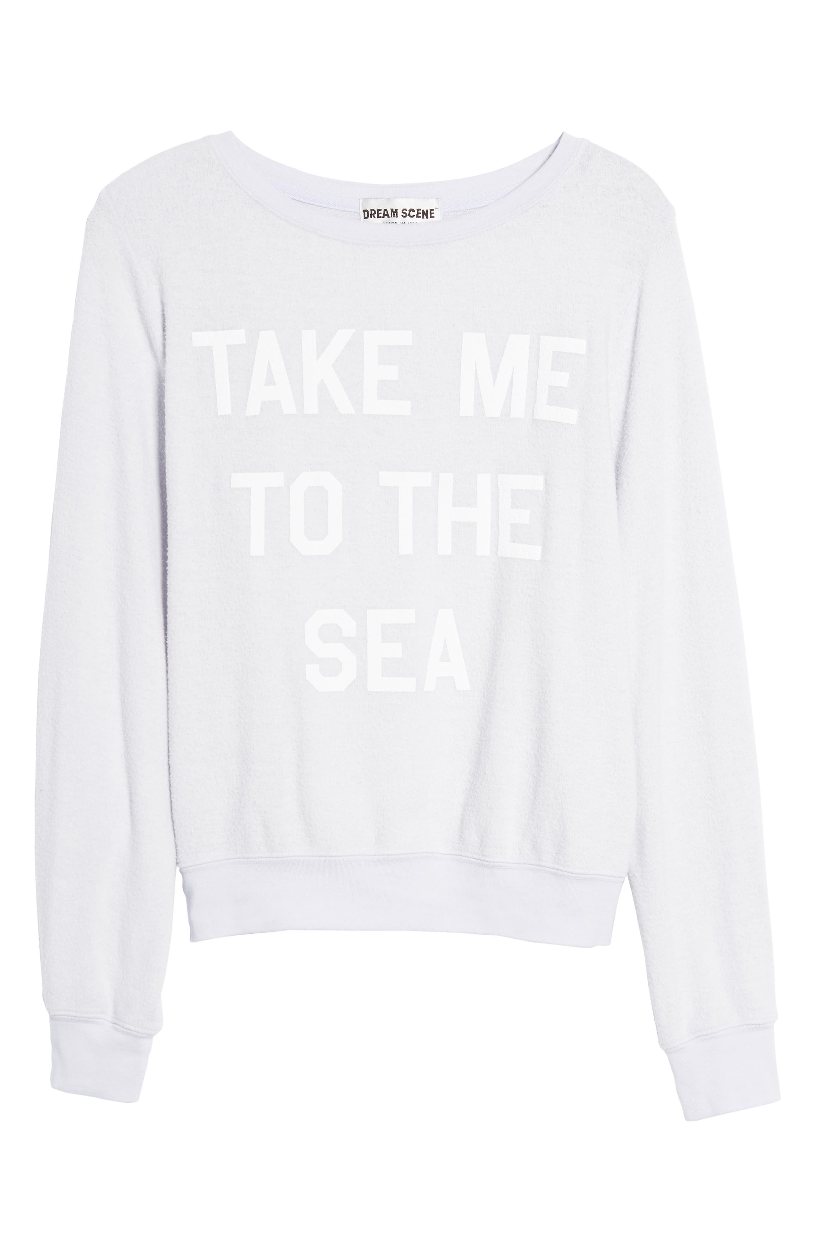Take Me to the Sea Sweatshirt,                             Alternate thumbnail 6, color,                             450