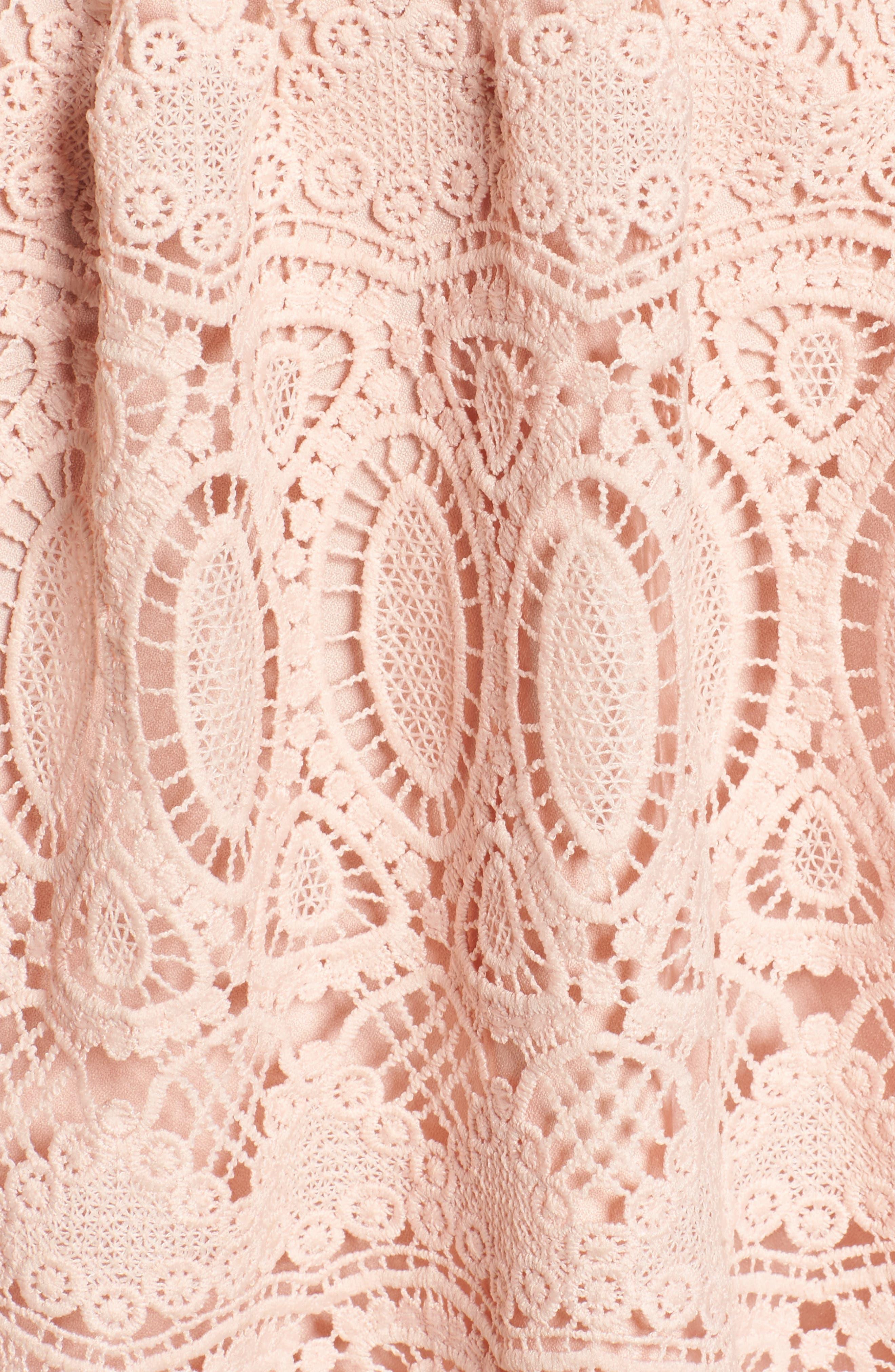 Lace Fit & Flare Dress,                             Alternate thumbnail 5, color,                             650