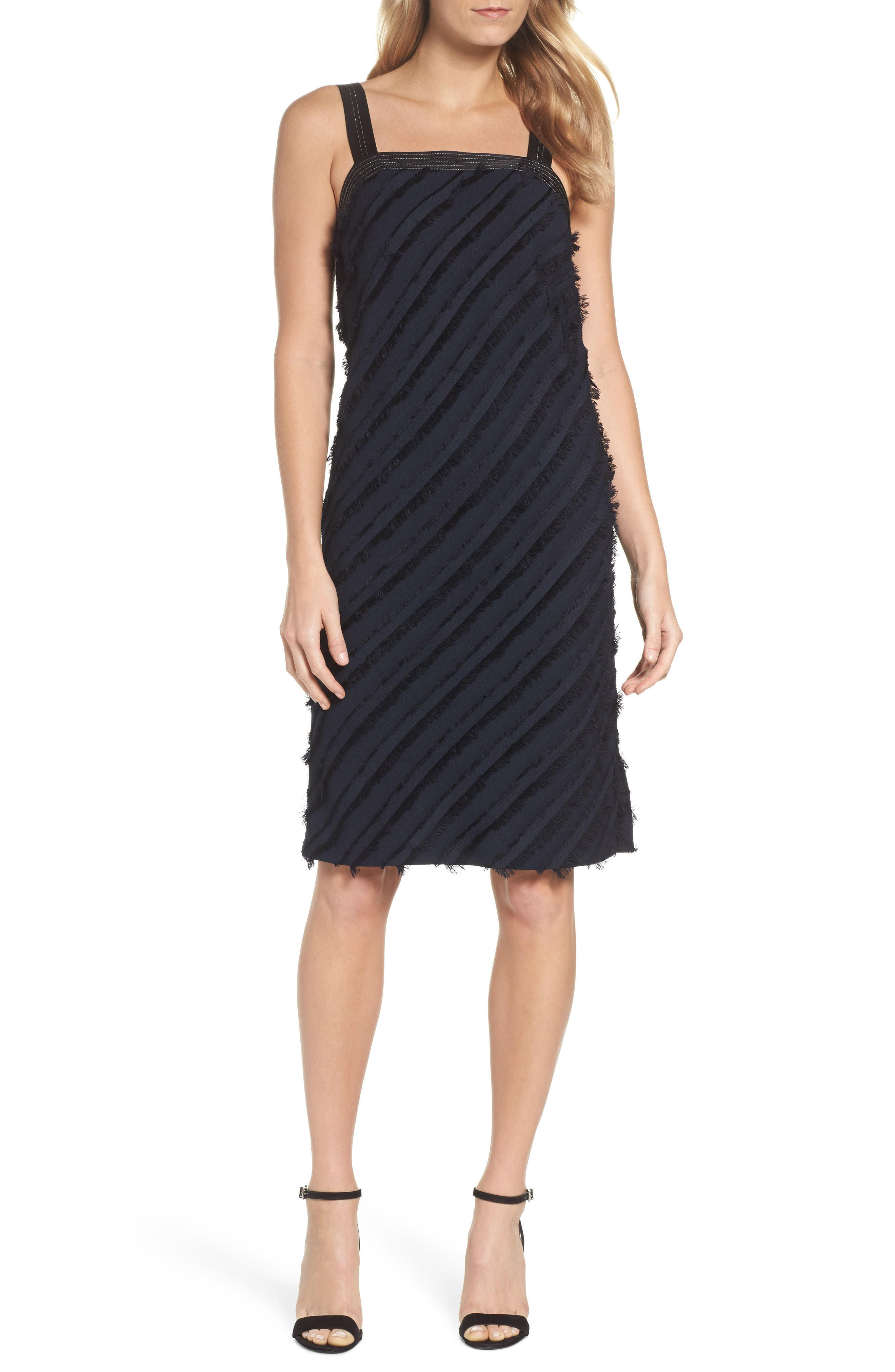 Frayed Stripe Dress,                         Main,                         color,