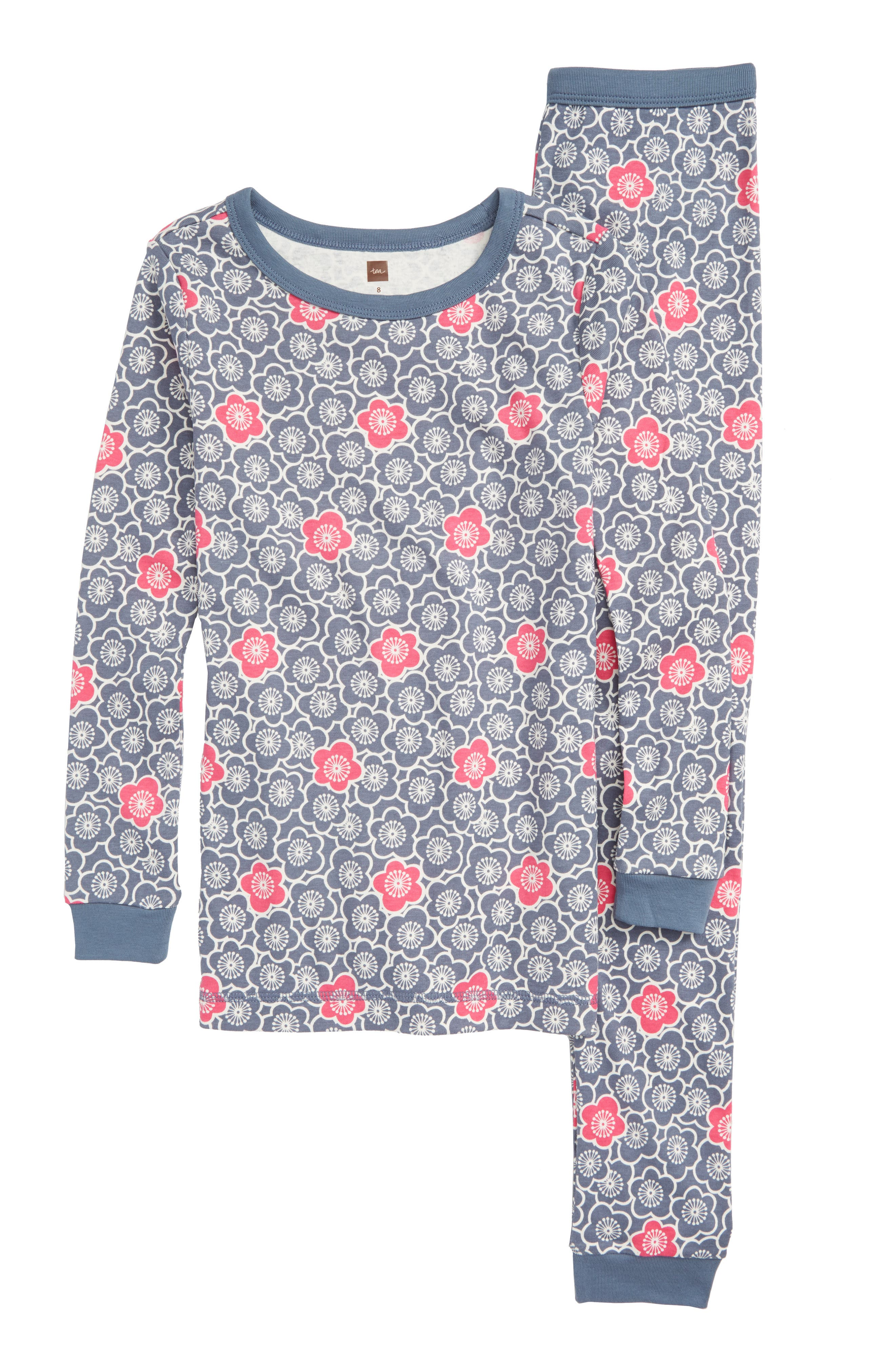 Fitted Two-Piece Pajamas,                         Main,                         color, UMI FLORAL