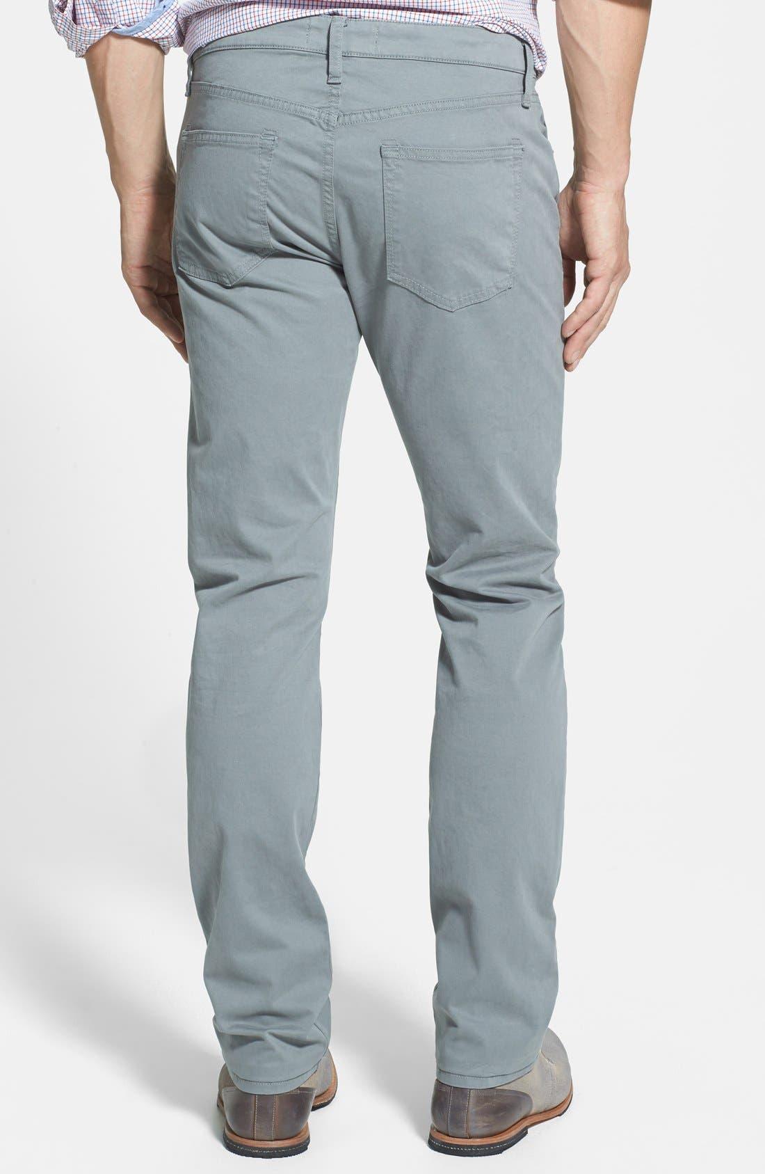 'Kane' Slim Fit Cotton Twill Pants,                             Alternate thumbnail 28, color,