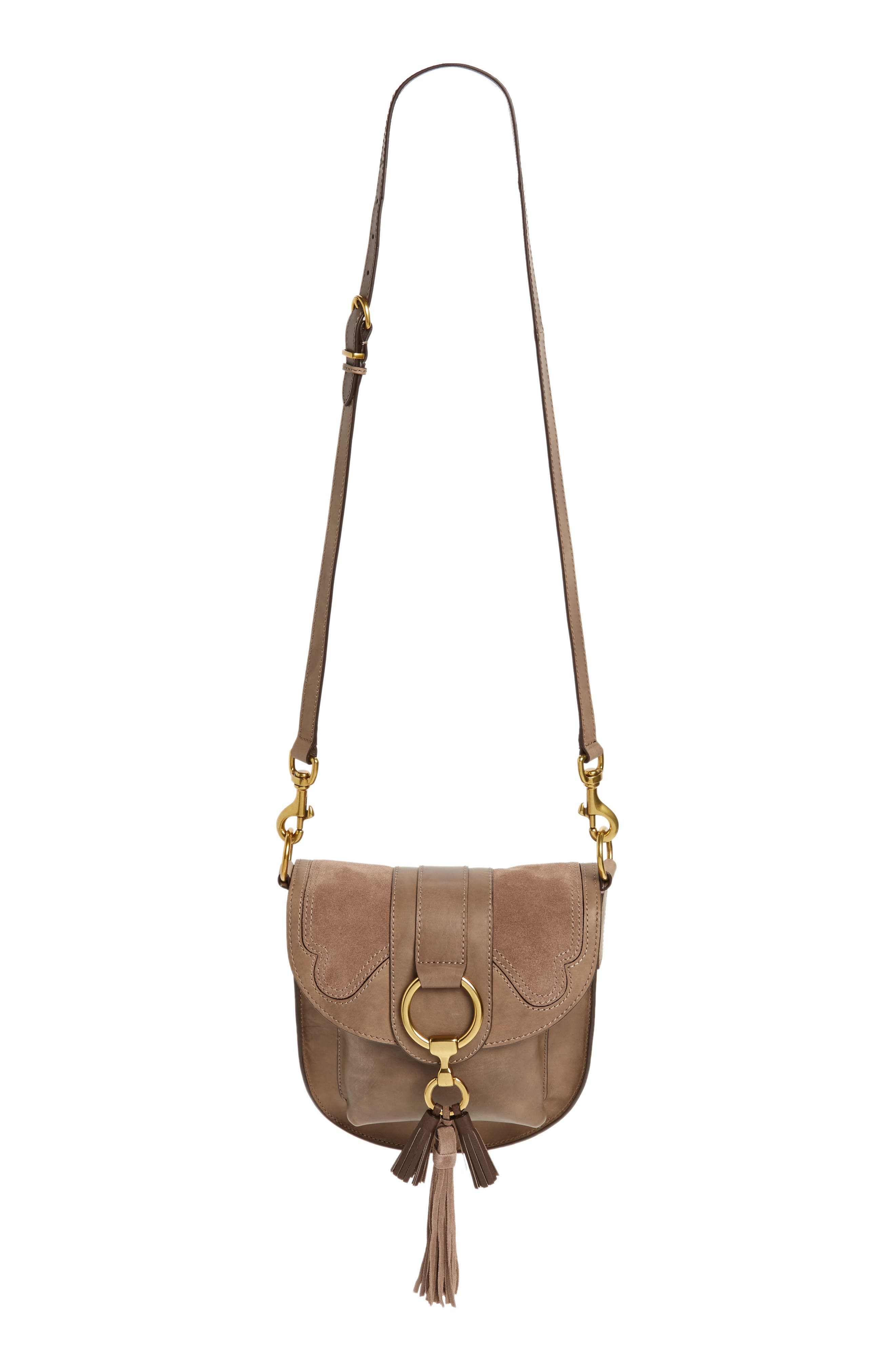 Small Ilana Harness Leather Saddle Bag,                             Main thumbnail 1, color,                             040