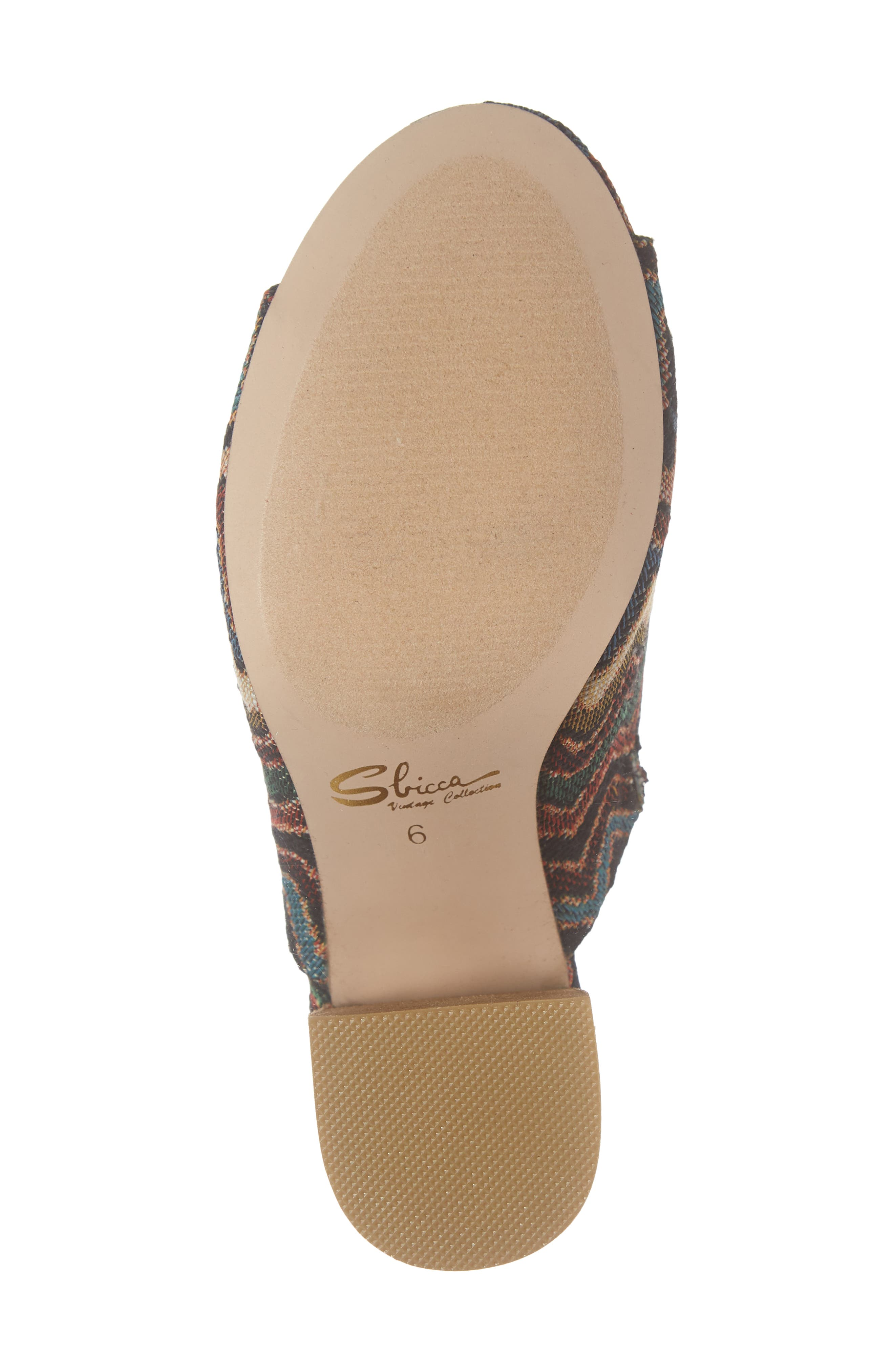 Helena Sandal,                             Alternate thumbnail 6, color,                             MULTICOLOR FABRIC