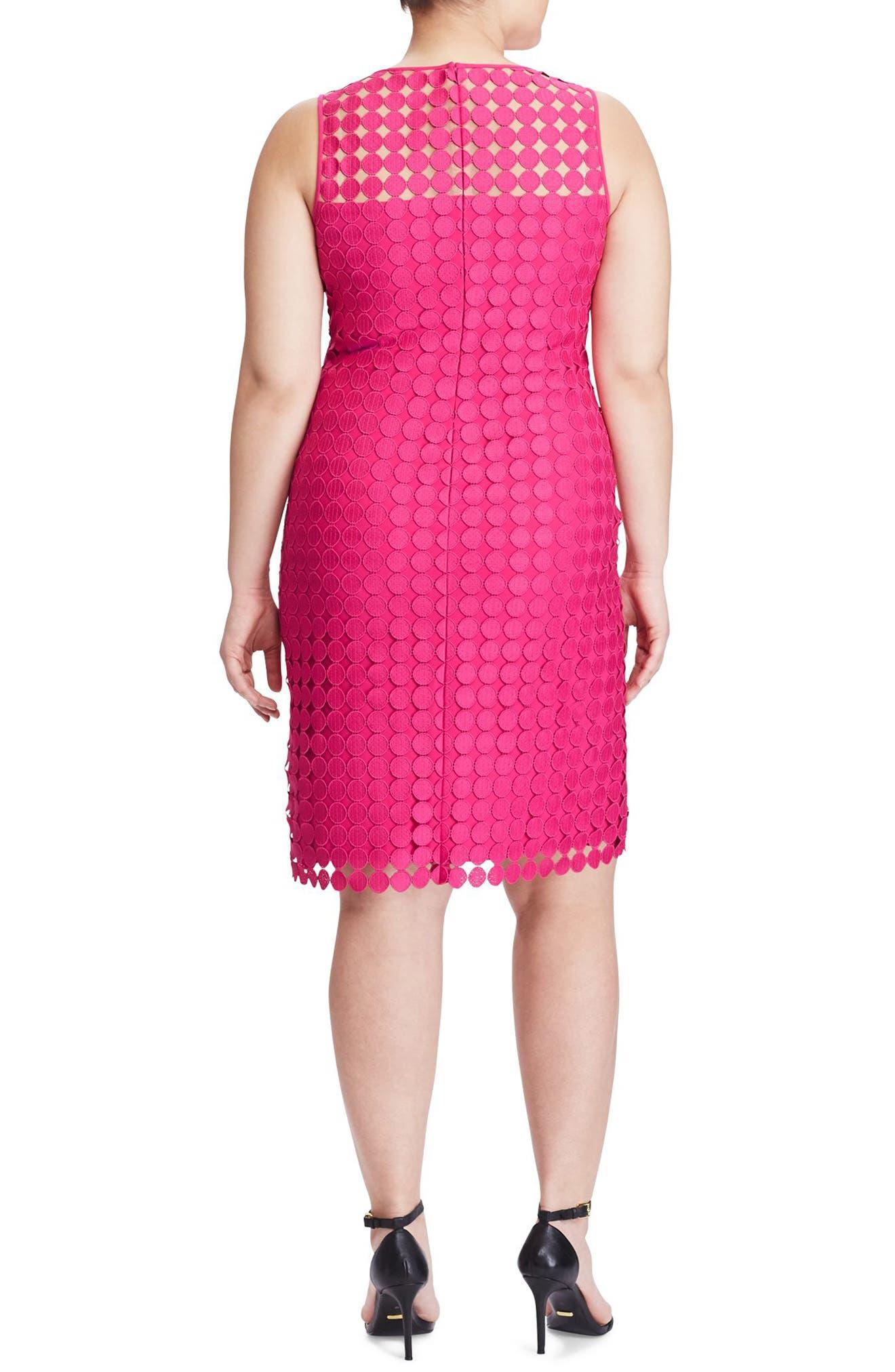 Dot Lace Sheath Dress,                             Alternate thumbnail 2, color,                             650