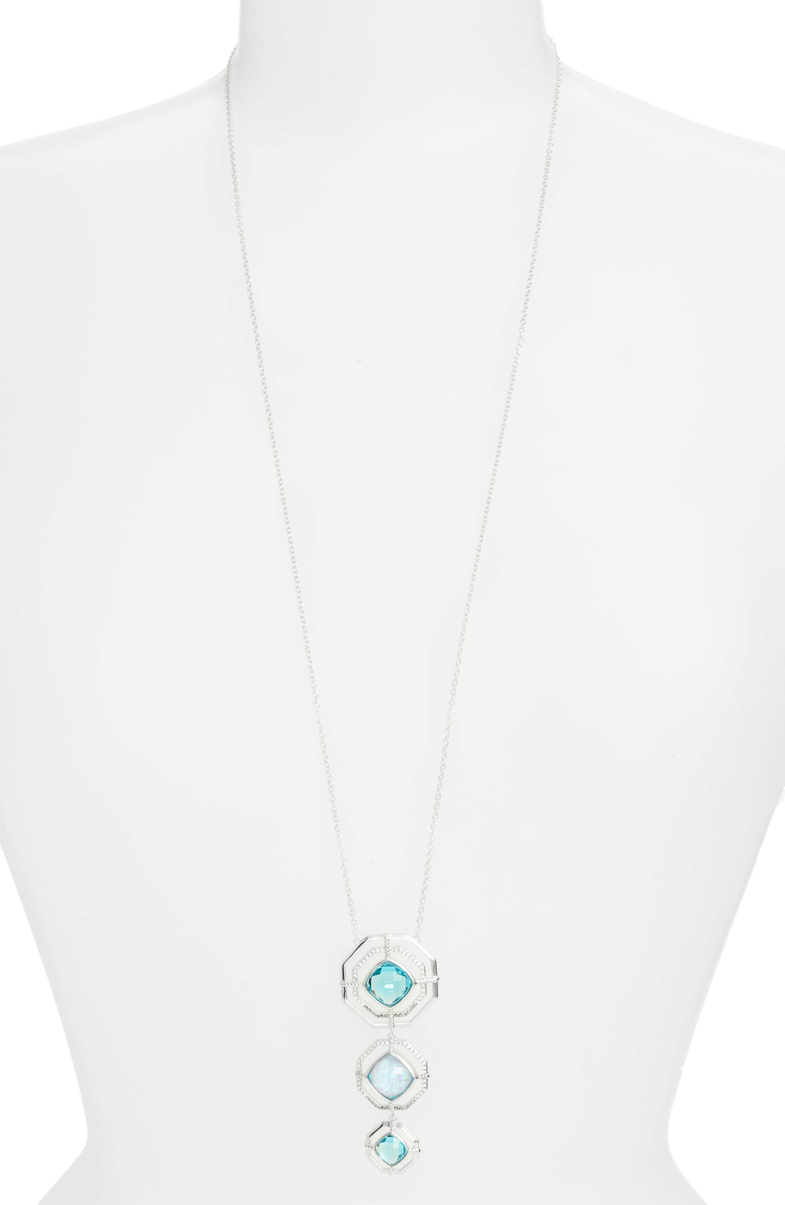 Paradise Tiered Pendant Necklace,                             Alternate thumbnail 2, color,                             040