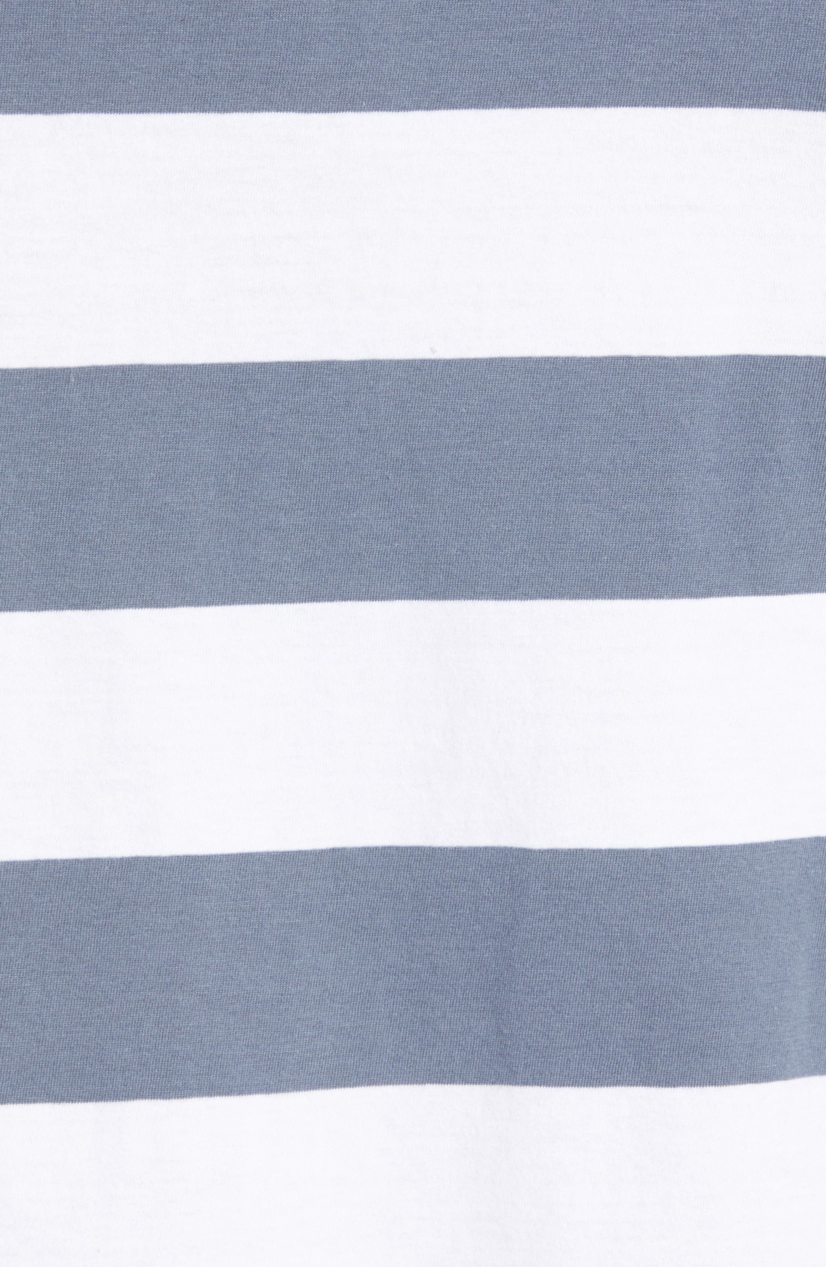 Embroidered Cools Club Stripe T-Shirt,                             Alternate thumbnail 5, color,                             NAVY STRIPE