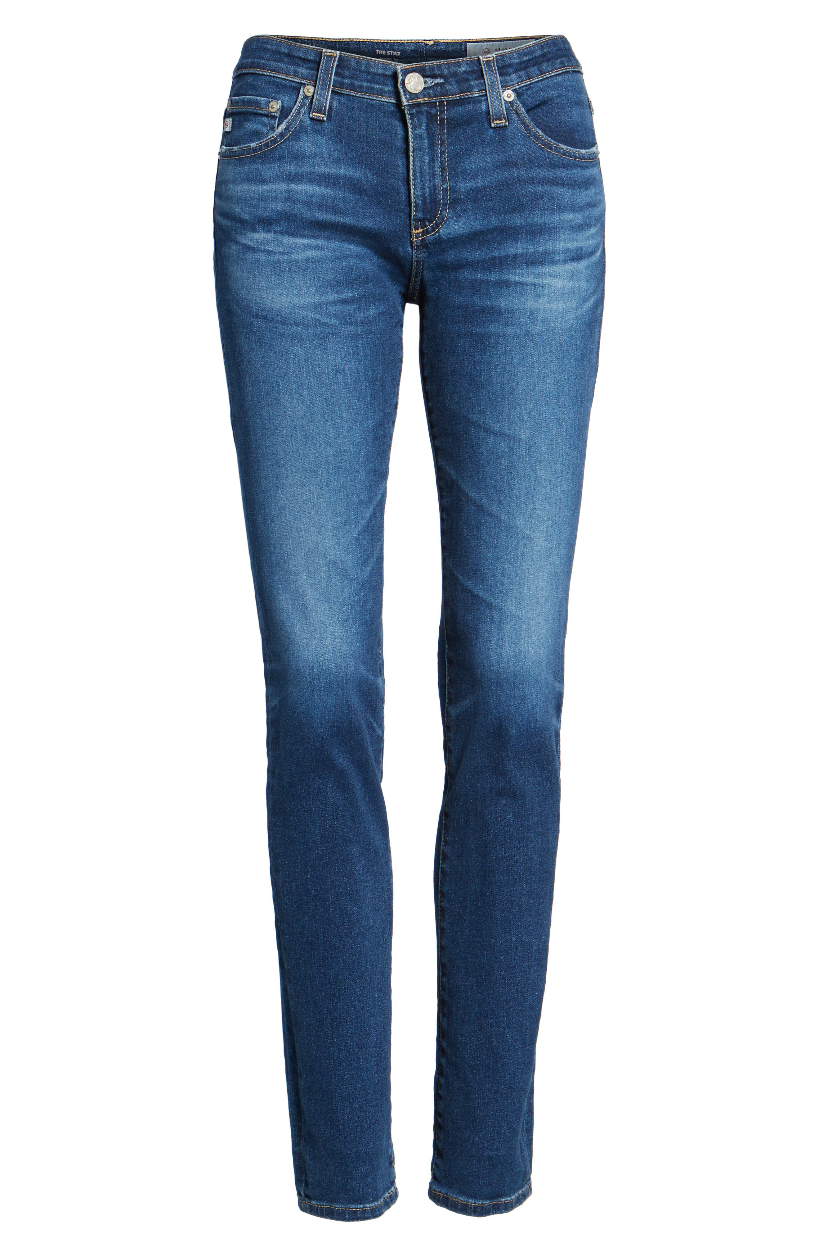 The Stilt Cigarette Skinny Jeans,                             Alternate thumbnail 6, color,                             473