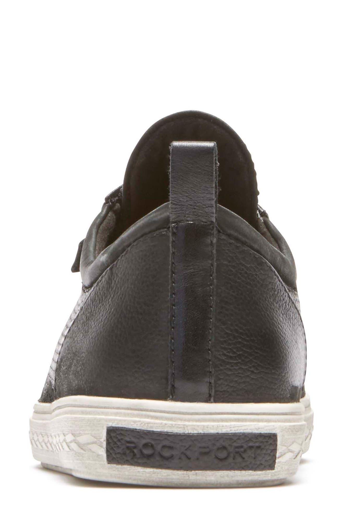 Willa Sneaker,                             Alternate thumbnail 7, color,                             BLACK LEATHER