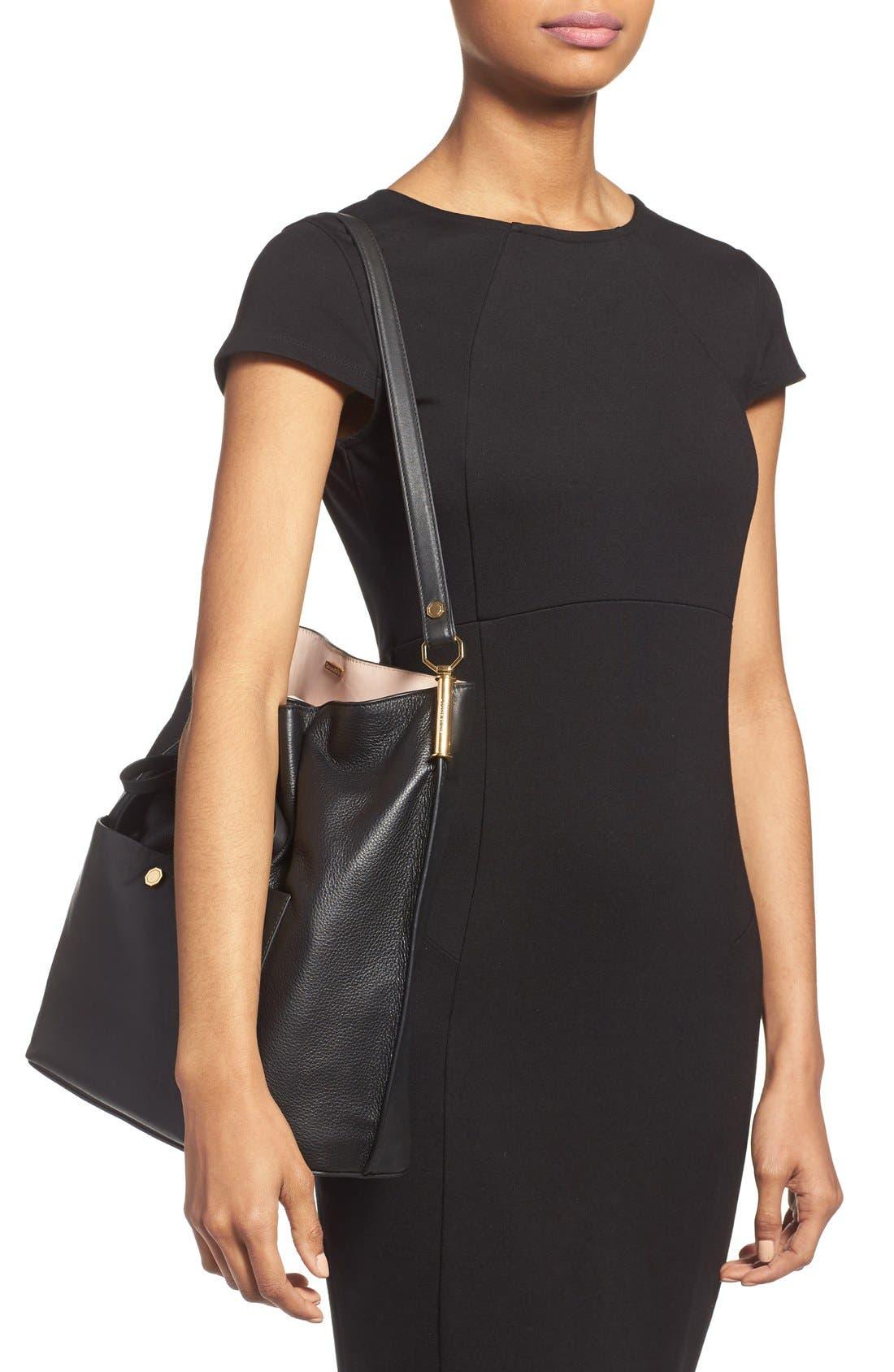 'Large Lucie' Bucket Bag,                             Alternate thumbnail 5, color,                             001