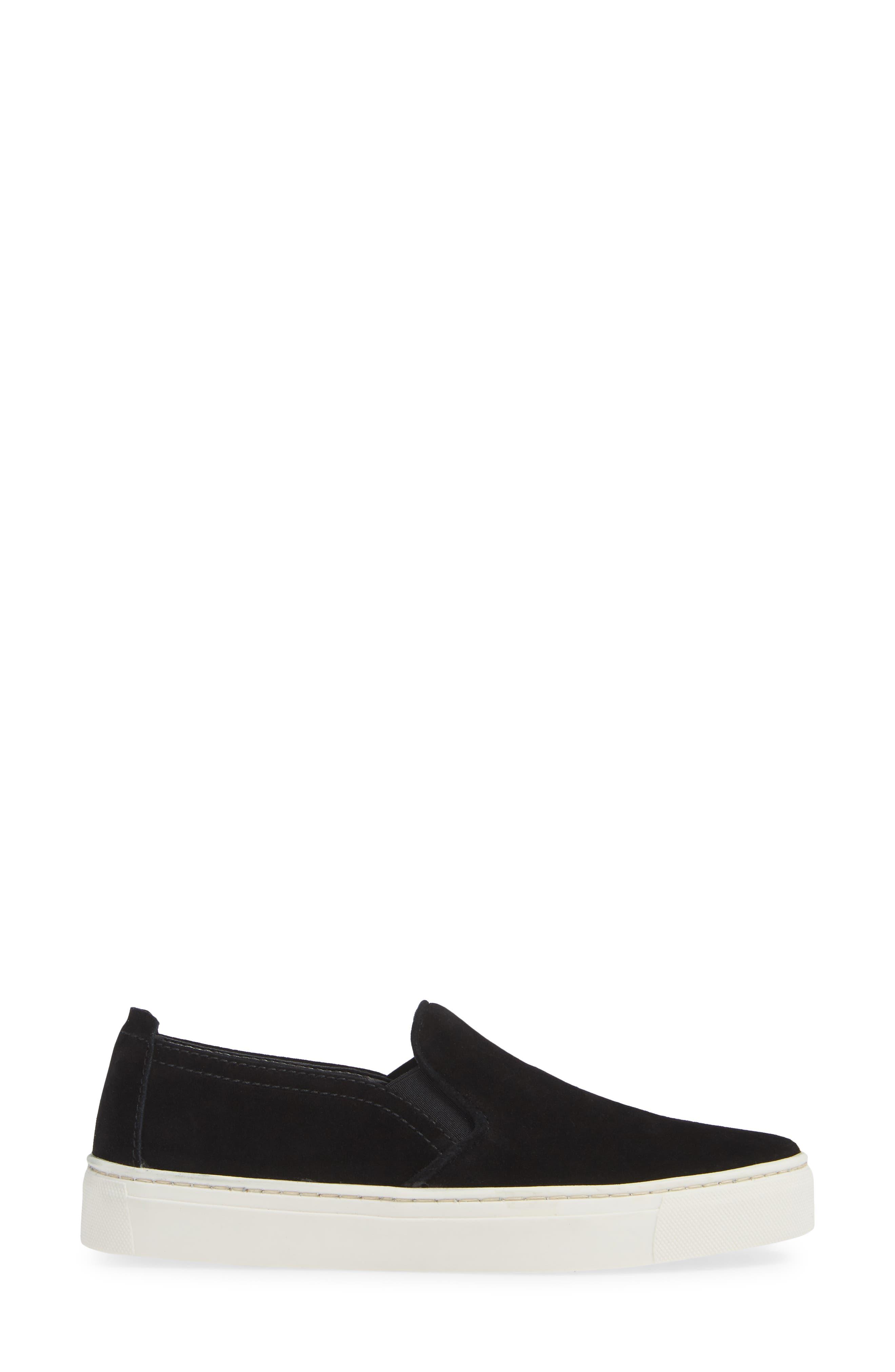 'Sneak Name' Sneaker,                             Alternate thumbnail 3, color,                             BLACK WATERPROOF SUEDE