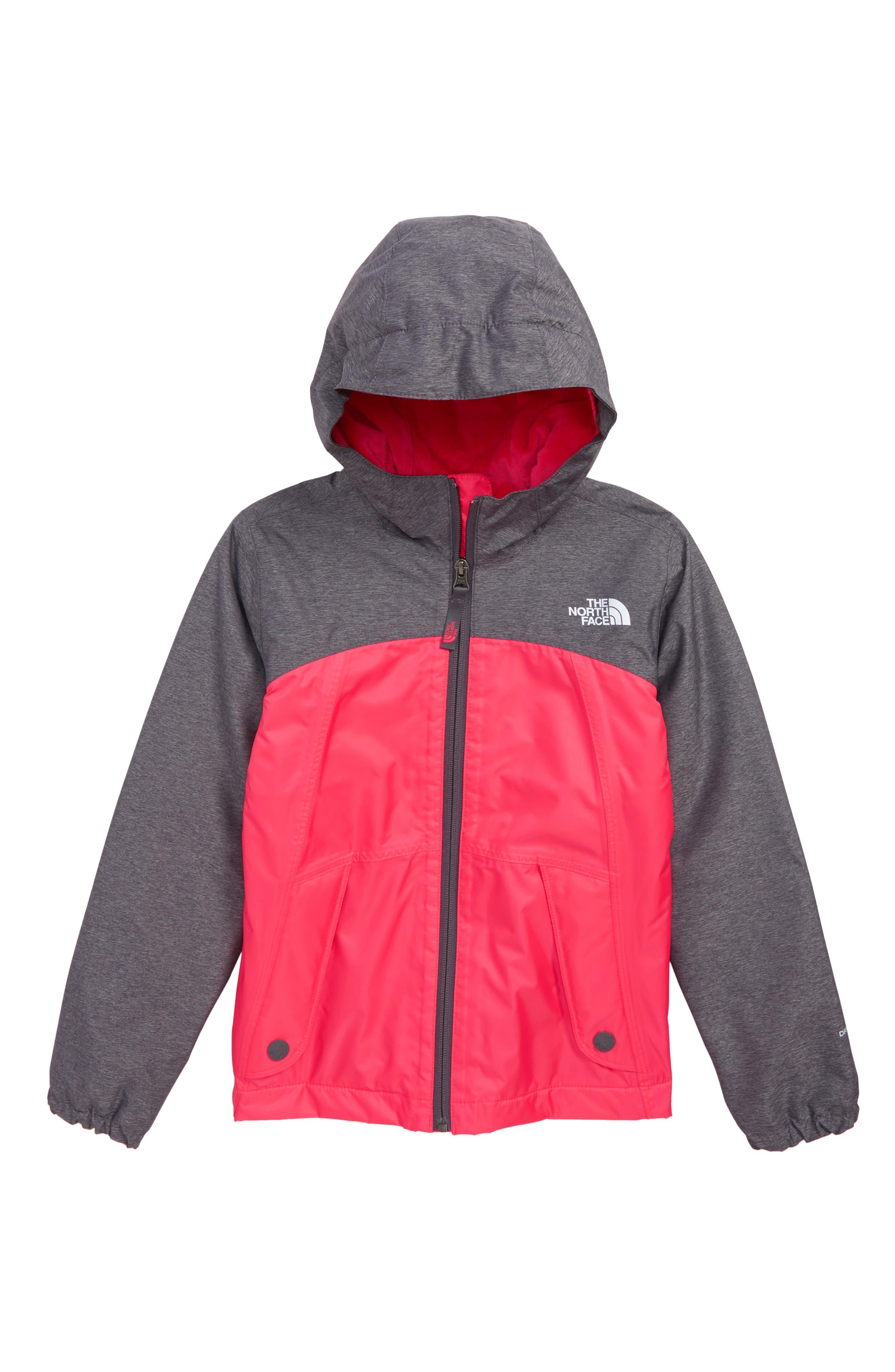 Warm Storm Hooded Waterproof Jacket,                         Main,                         color, ATOMIC PINK