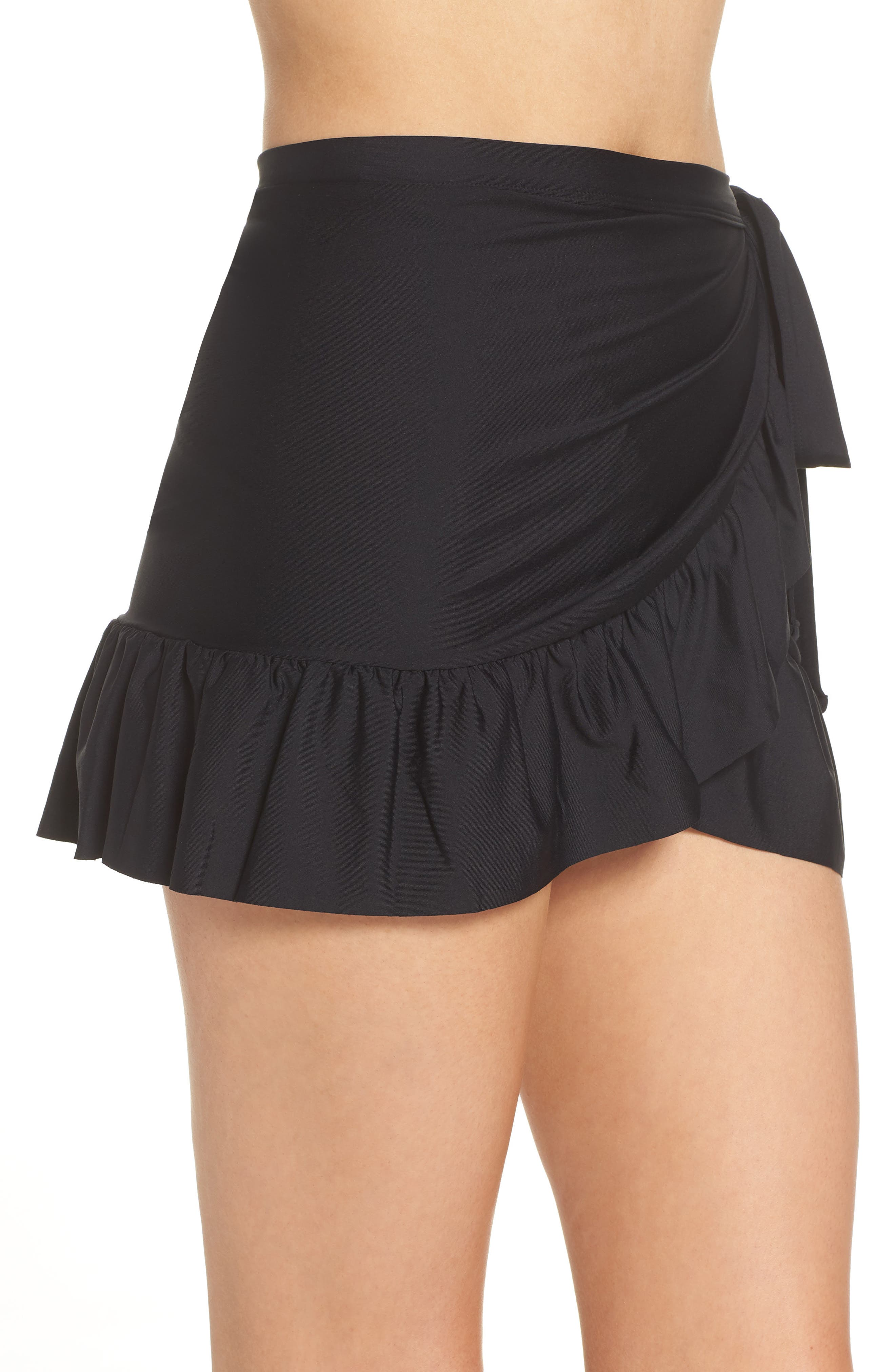 Cover-Up Wrap Skirt,                             Alternate thumbnail 3, color,                             001