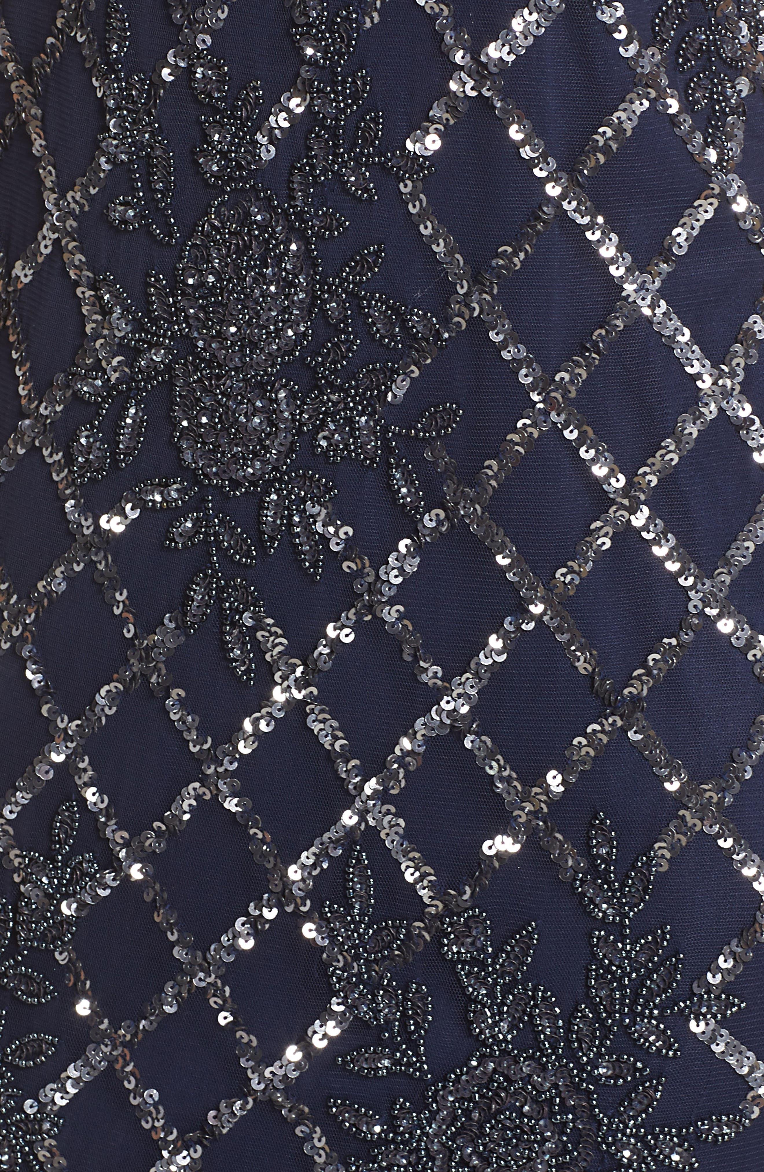 Beaded Sheath Dress,                             Alternate thumbnail 5, color,                             410