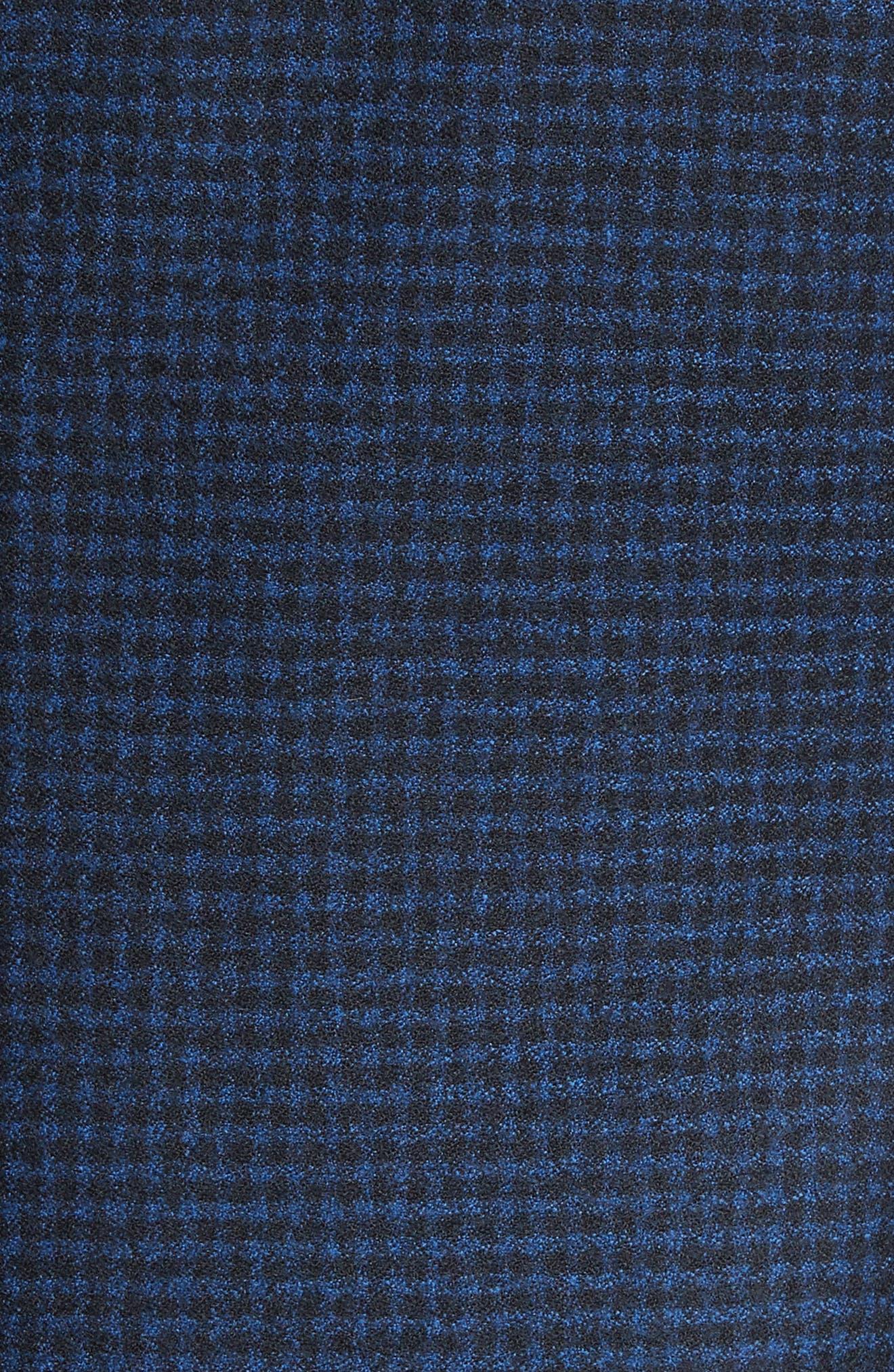 ARMANI COLLEZIONI,                             G-Line Trim Fit Check Wool Sport Coat,                             Alternate thumbnail 5, color,                             410