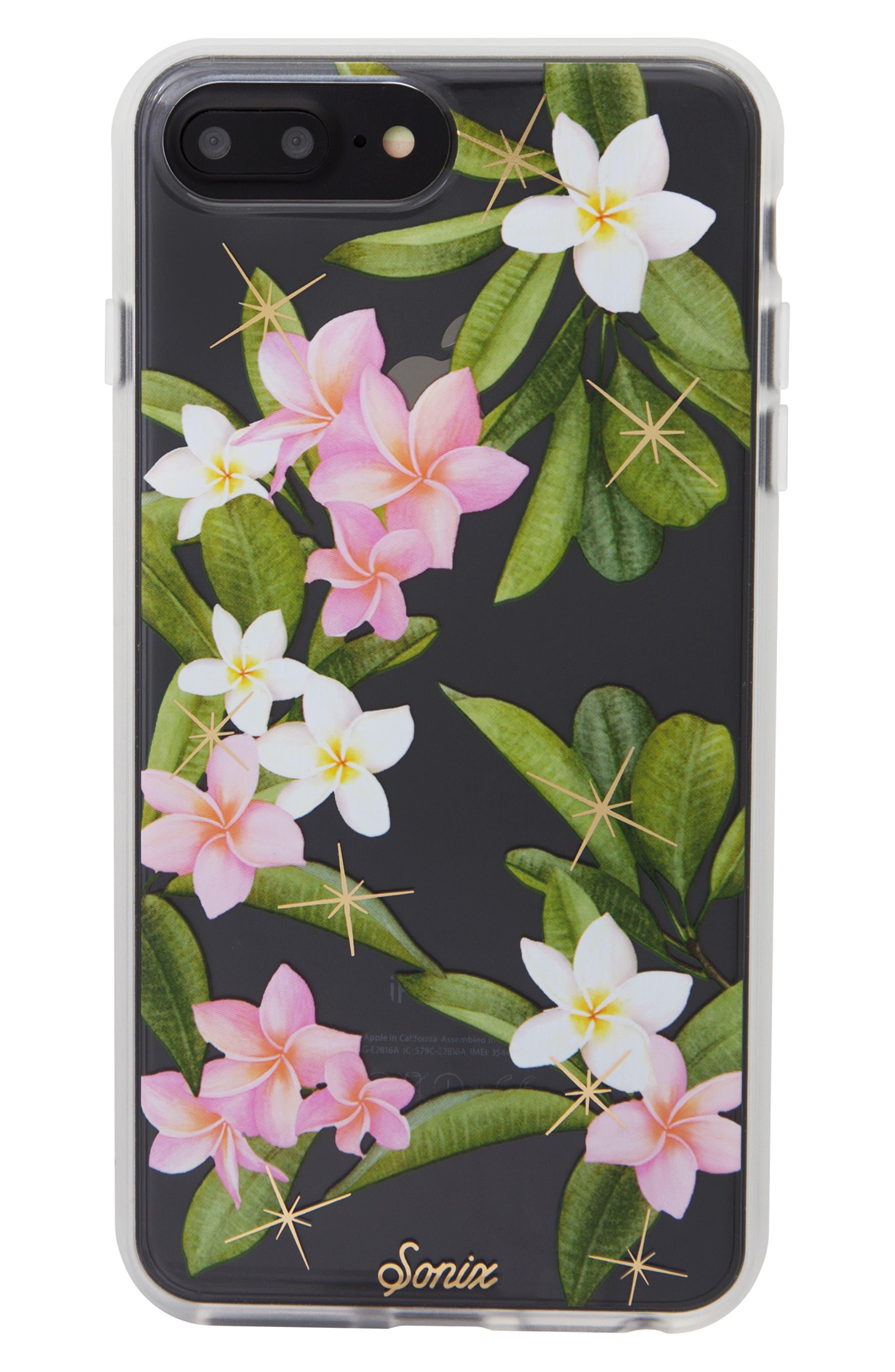 Plumeria iPhone X/Xs, XR & X Max Case,                             Main thumbnail 1, color,                             WHITE