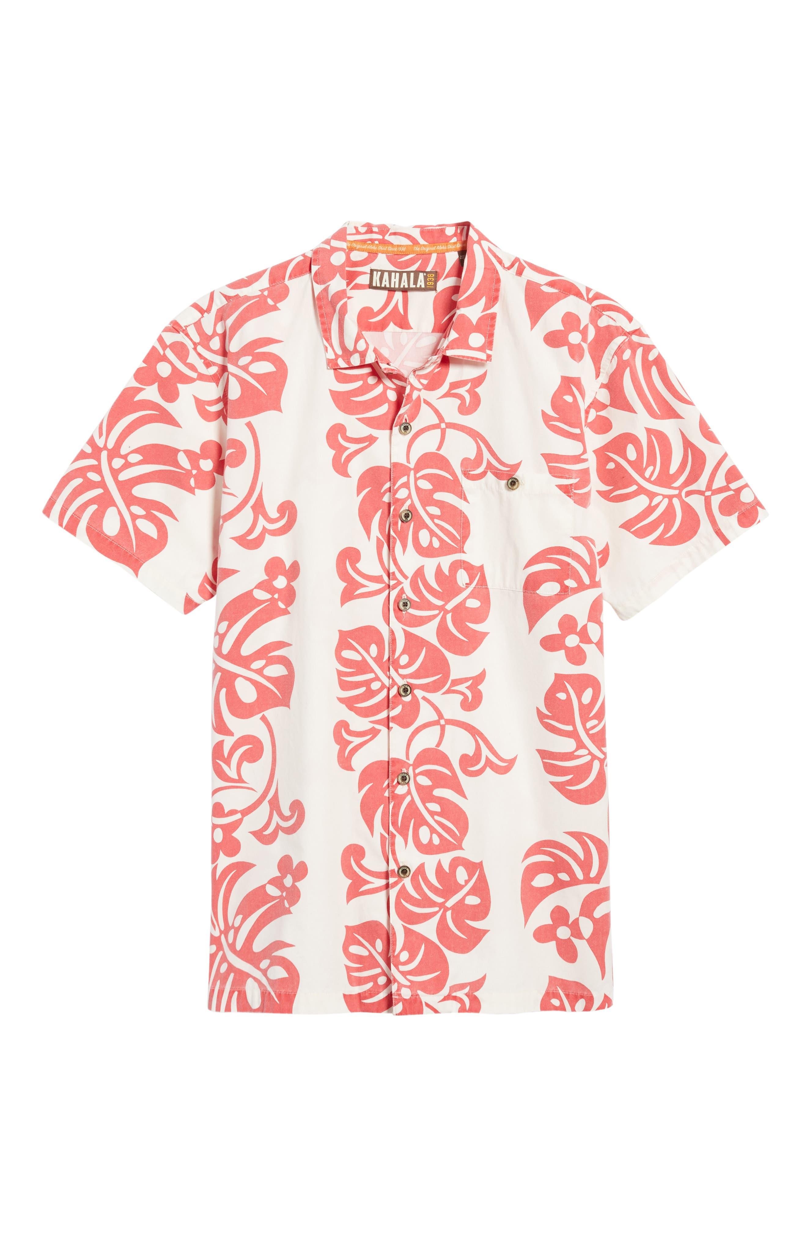 Malama Trim Fit Print Sport Shirt,                             Alternate thumbnail 6, color,