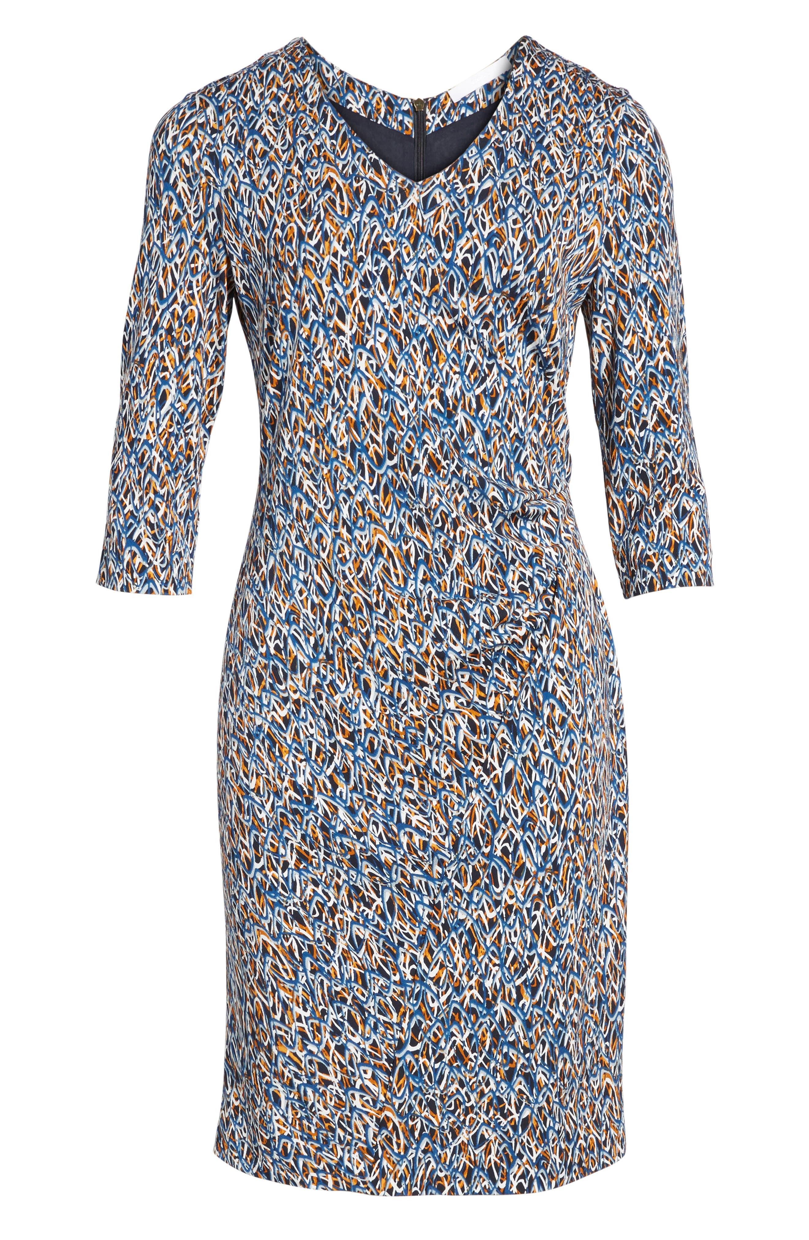 Epona Print Sheath Dress,                             Alternate thumbnail 6, color,                             461