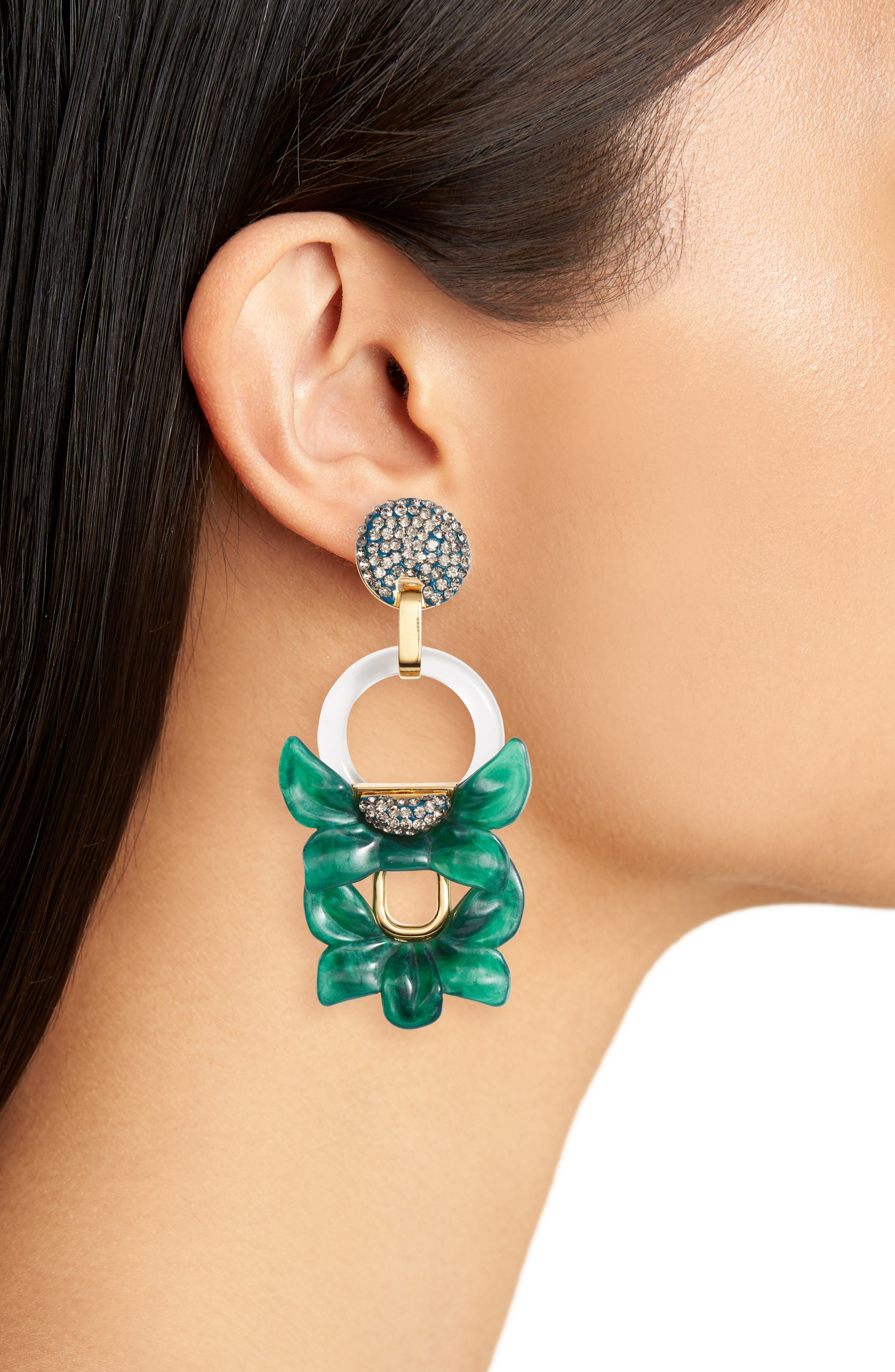 Rio Clip Drop Earrings,                             Alternate thumbnail 2, color,                             300