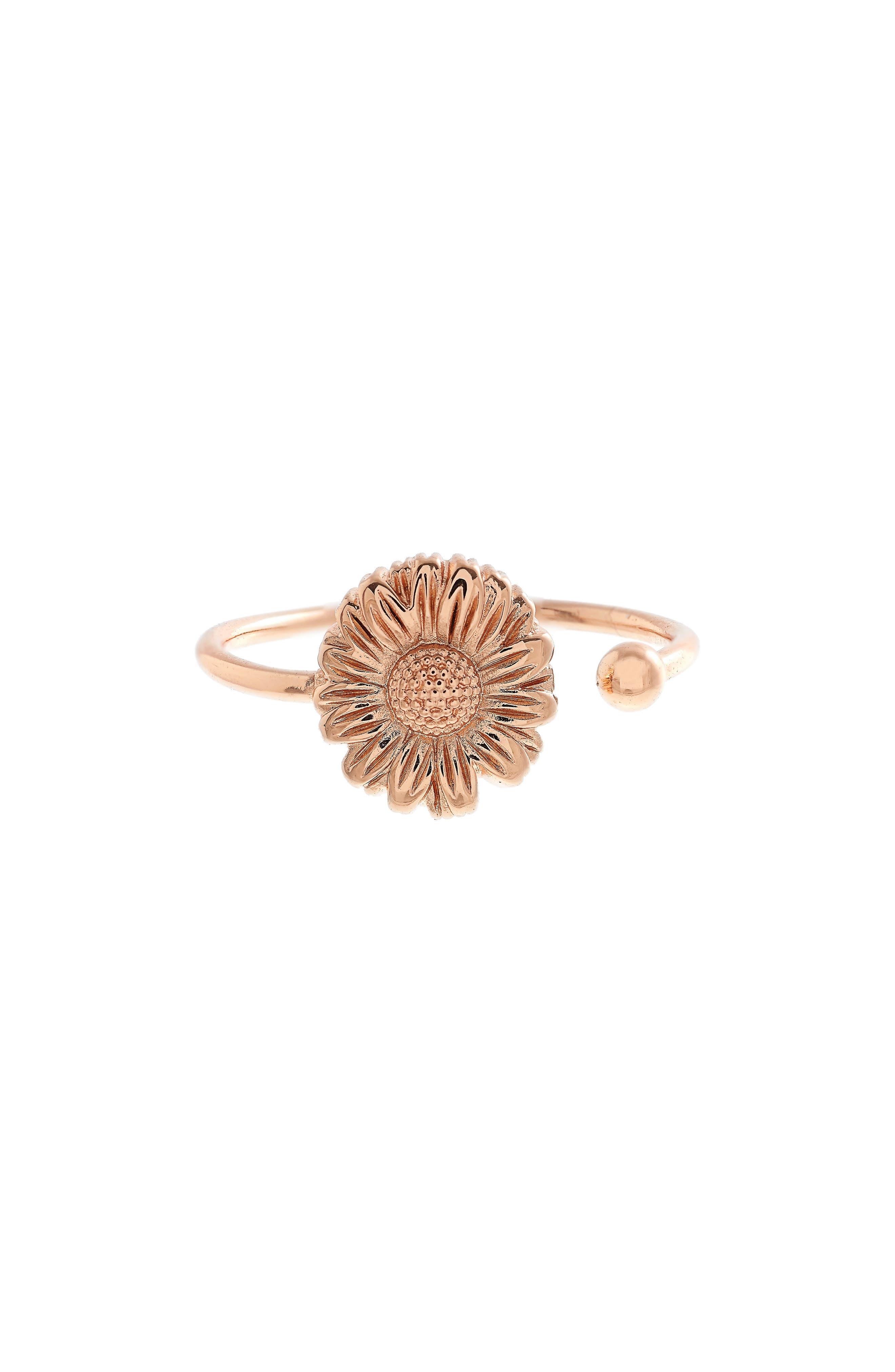 Daisy Ring,                             Main thumbnail 1, color,                             ROSE GOLD