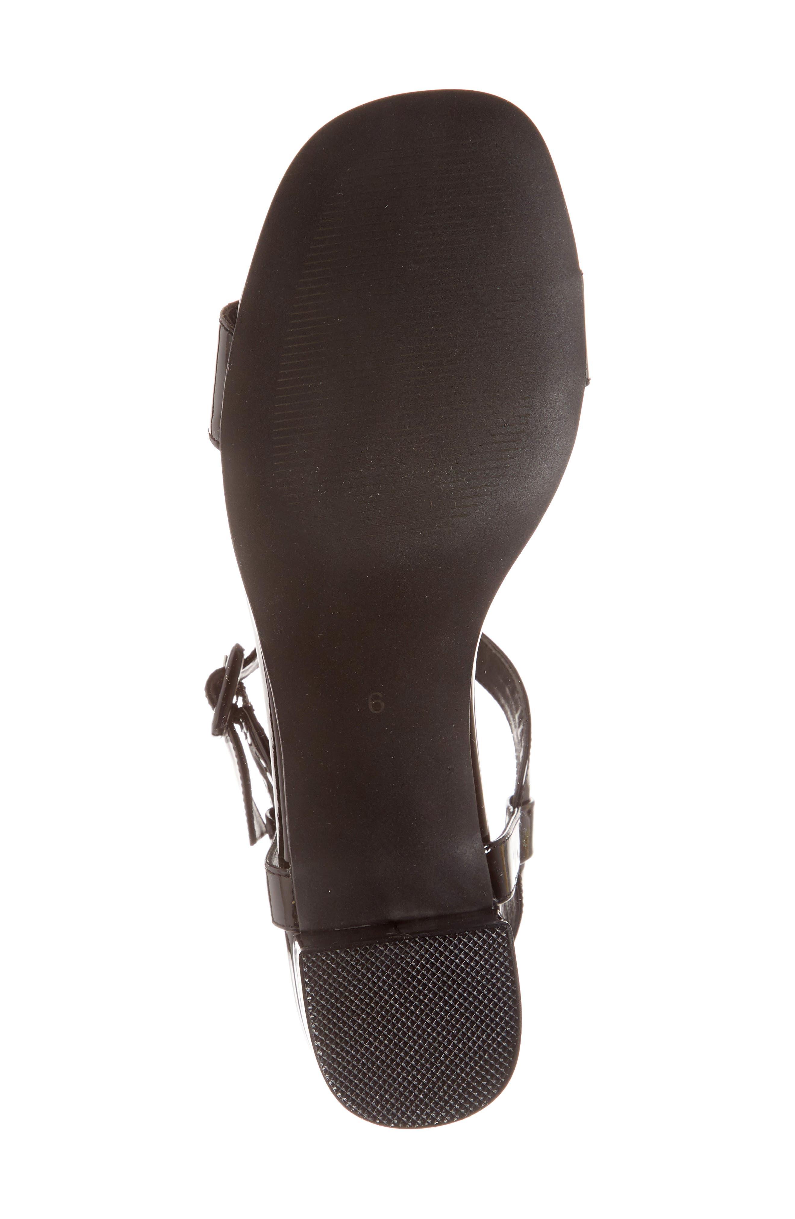 T-Strap Sandal,                             Alternate thumbnail 6, color,                             001