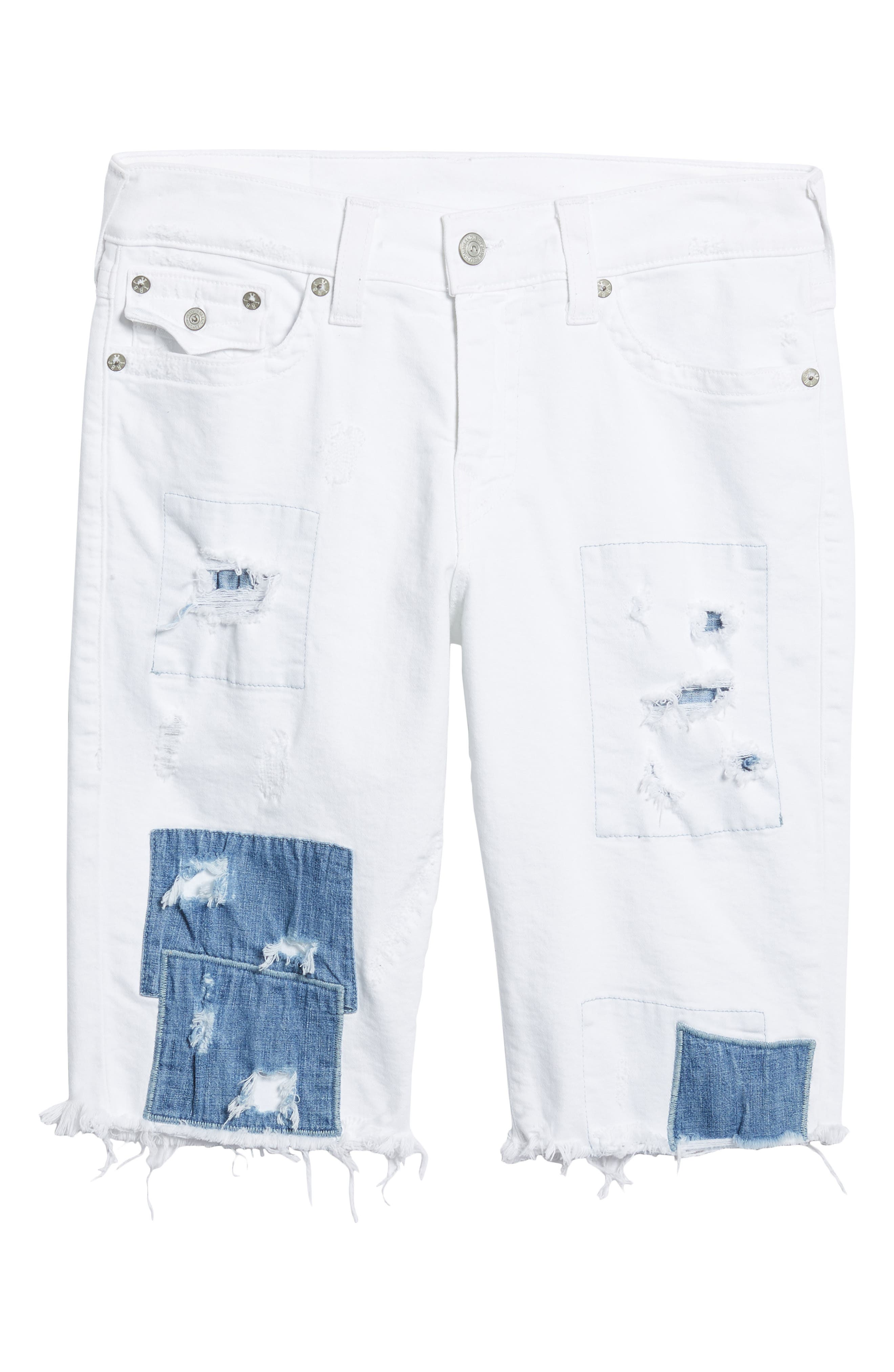 Ricky Relaxed Fit Denim Shorts,                             Alternate thumbnail 6, color,                             401