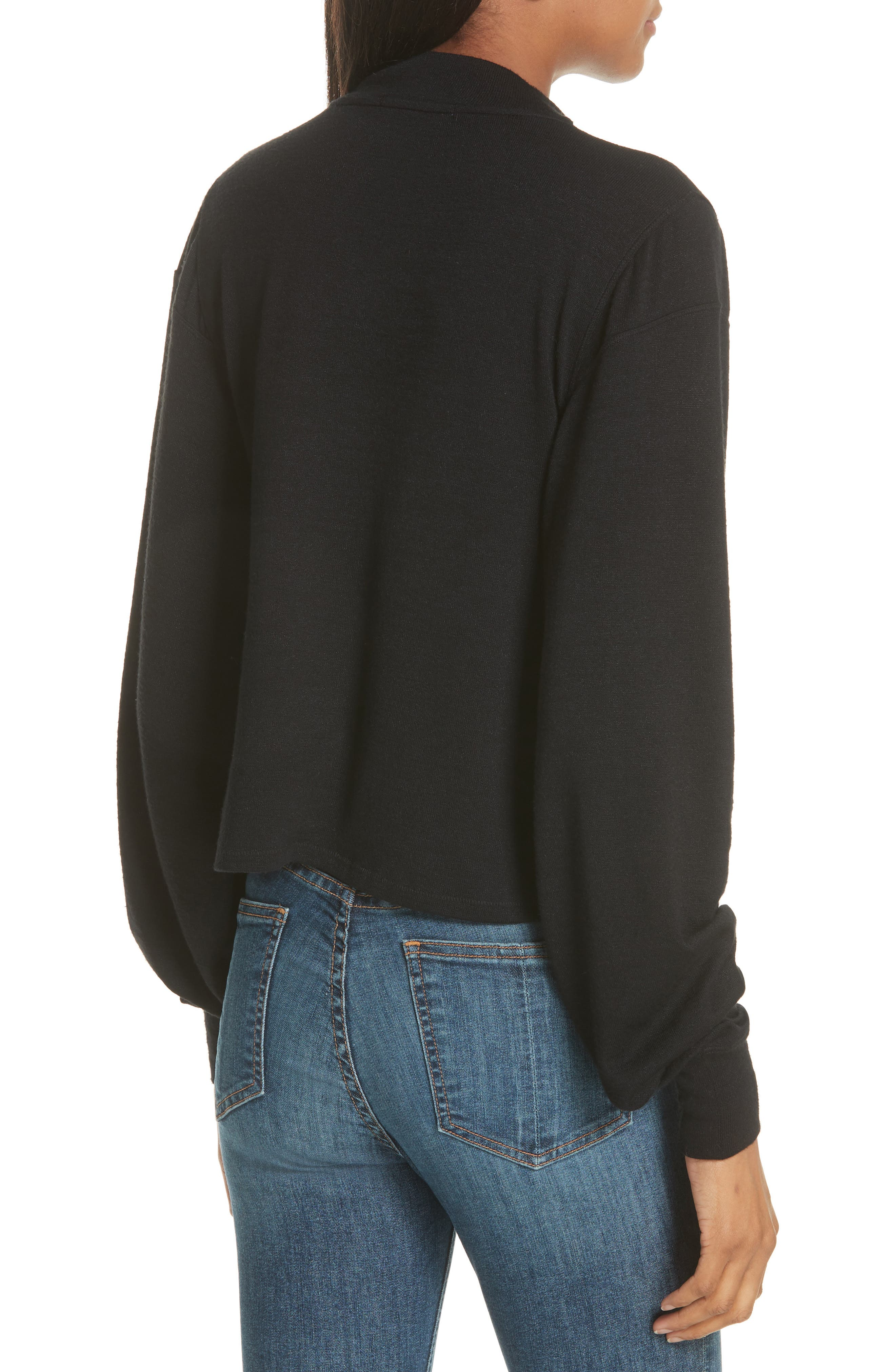 RAG & BONE,                             JEAN Bigsby Long Sleeve Top,                             Alternate thumbnail 2, color,                             001